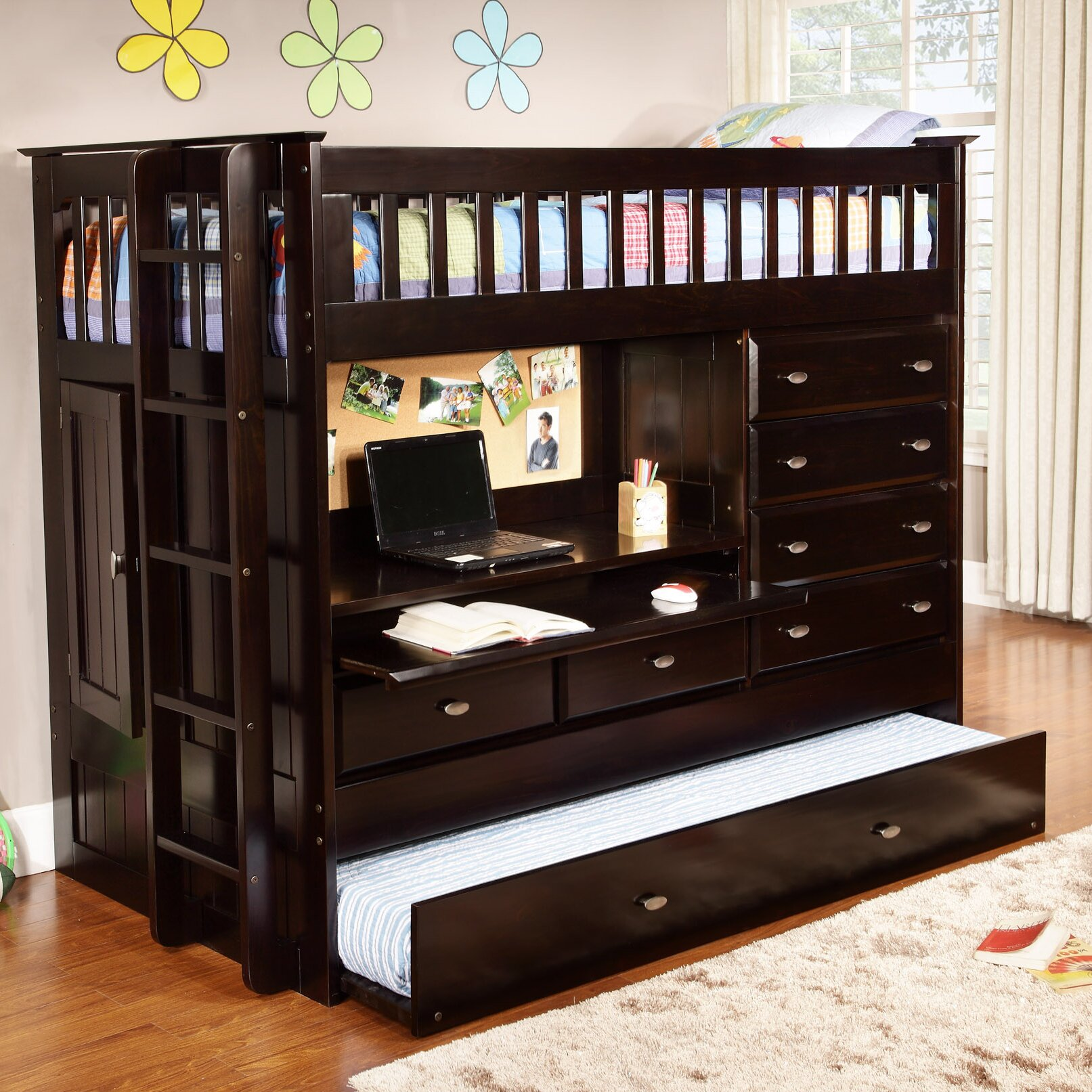 Discovery World Furniture All in e Twin Bunk Bed with