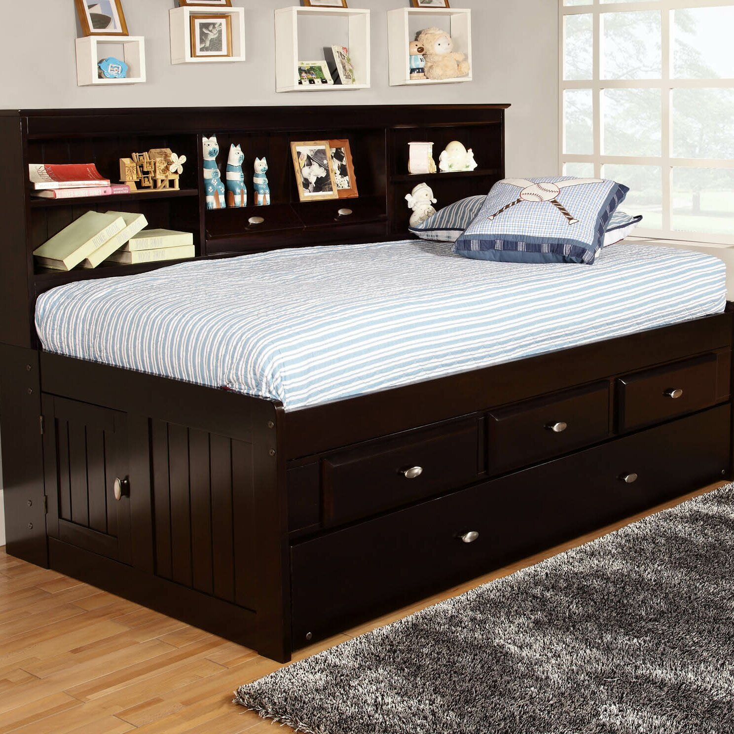 Discovery world furniture captian 39 s bed with trundle - Wayfair childrens bedroom furniture ...