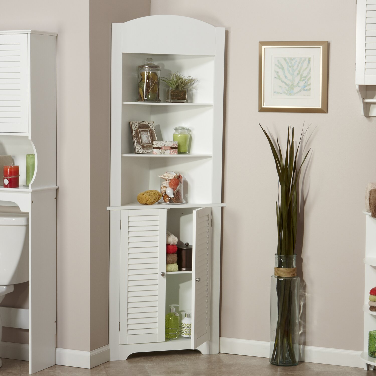 Pantry Cabinet: Free Standing Corner Pantry Cabinet with Amazon ...