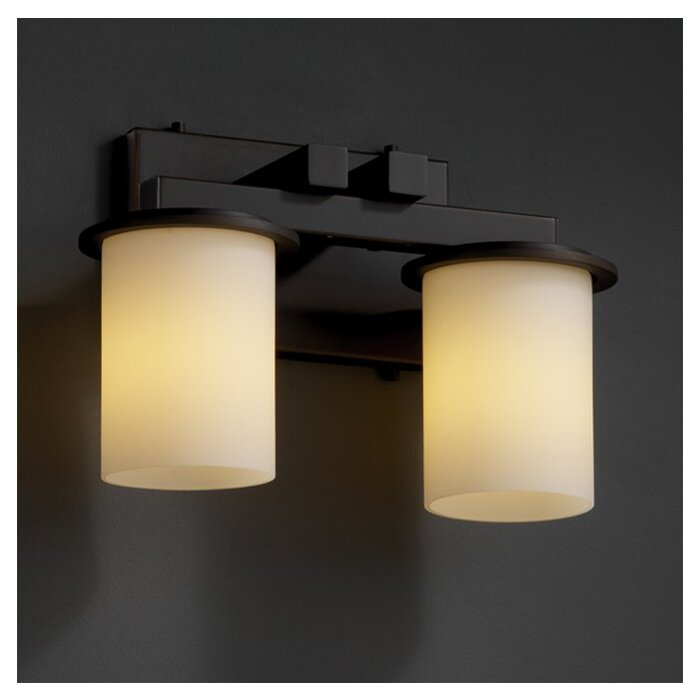 justice design group bathroom lighting justice design fusion dakota 2 light bath vanity 23570