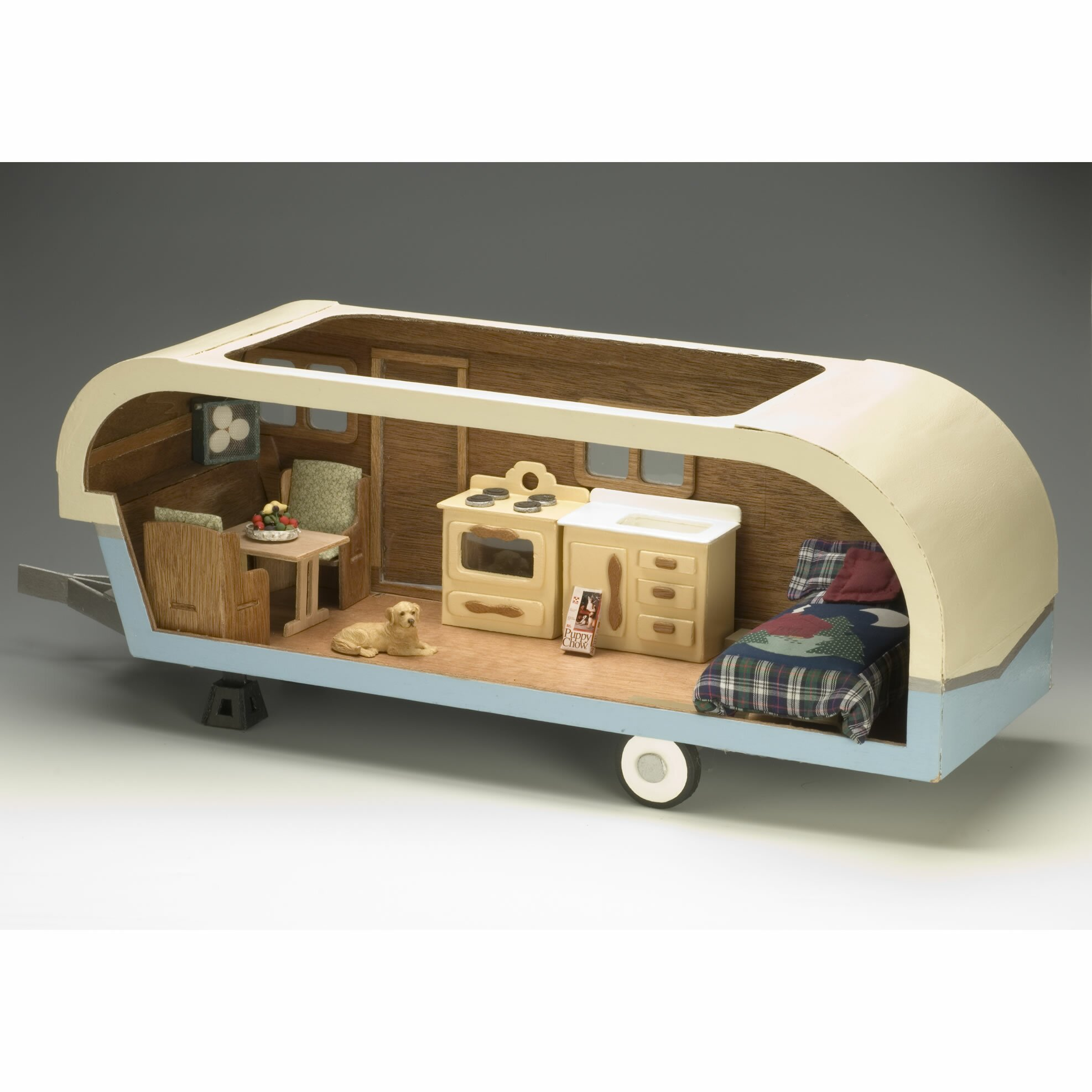 Greenleaf Dollhouses Vintage Travel Trailer Dollhouse