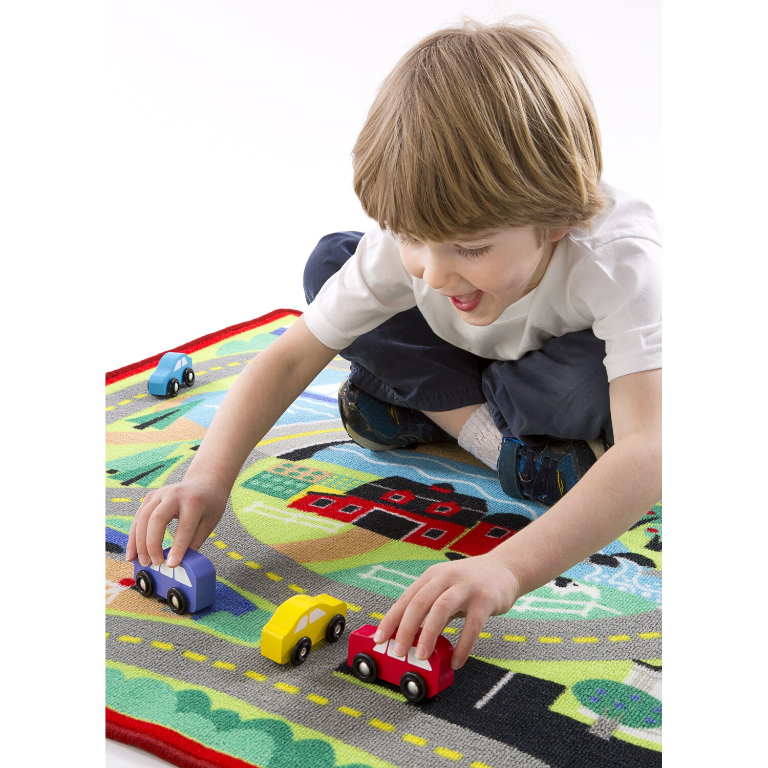 Melissa & Doug Round The Town Road Area Rug & Reviews