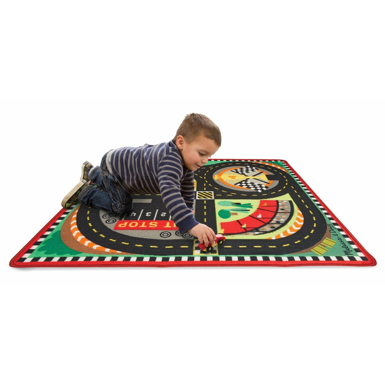Melissa Amp Doug Round The Speedway Race Track Area Rug