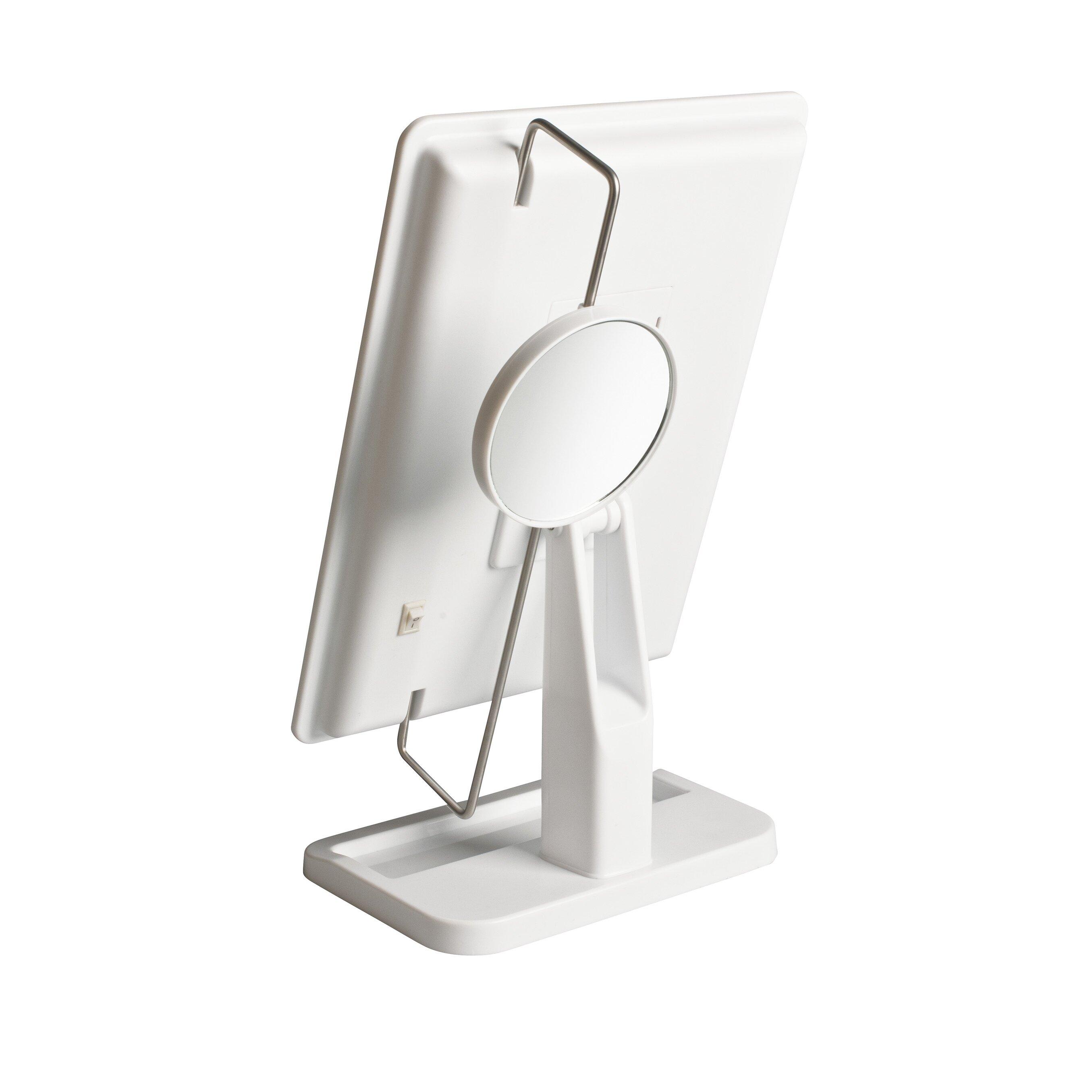 jerdon portable led lighted tabletop makeup mirror. Black Bedroom Furniture Sets. Home Design Ideas