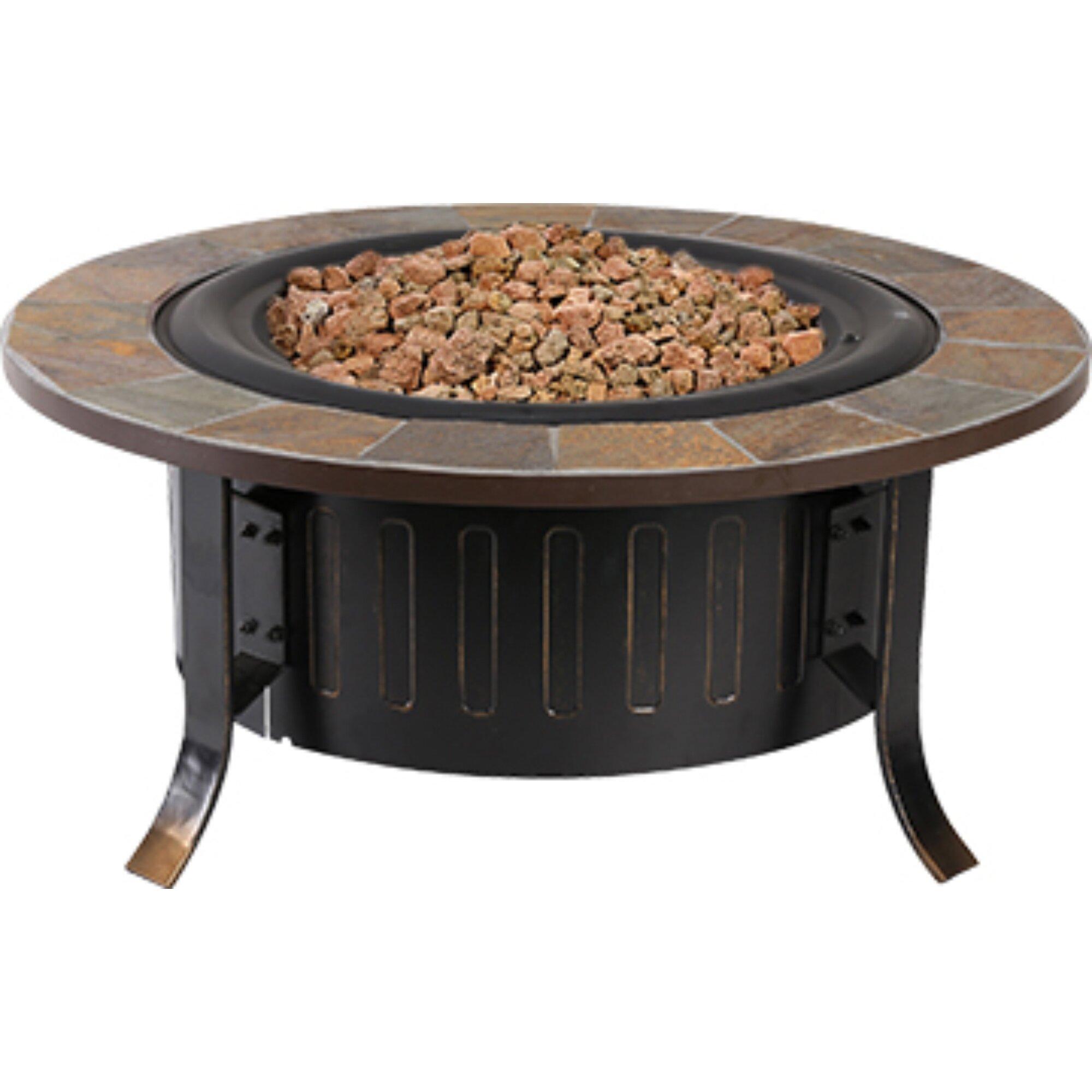 Bond Bolen Steel Outdoor Gas Table Top Fireplace Reviews Wayfair