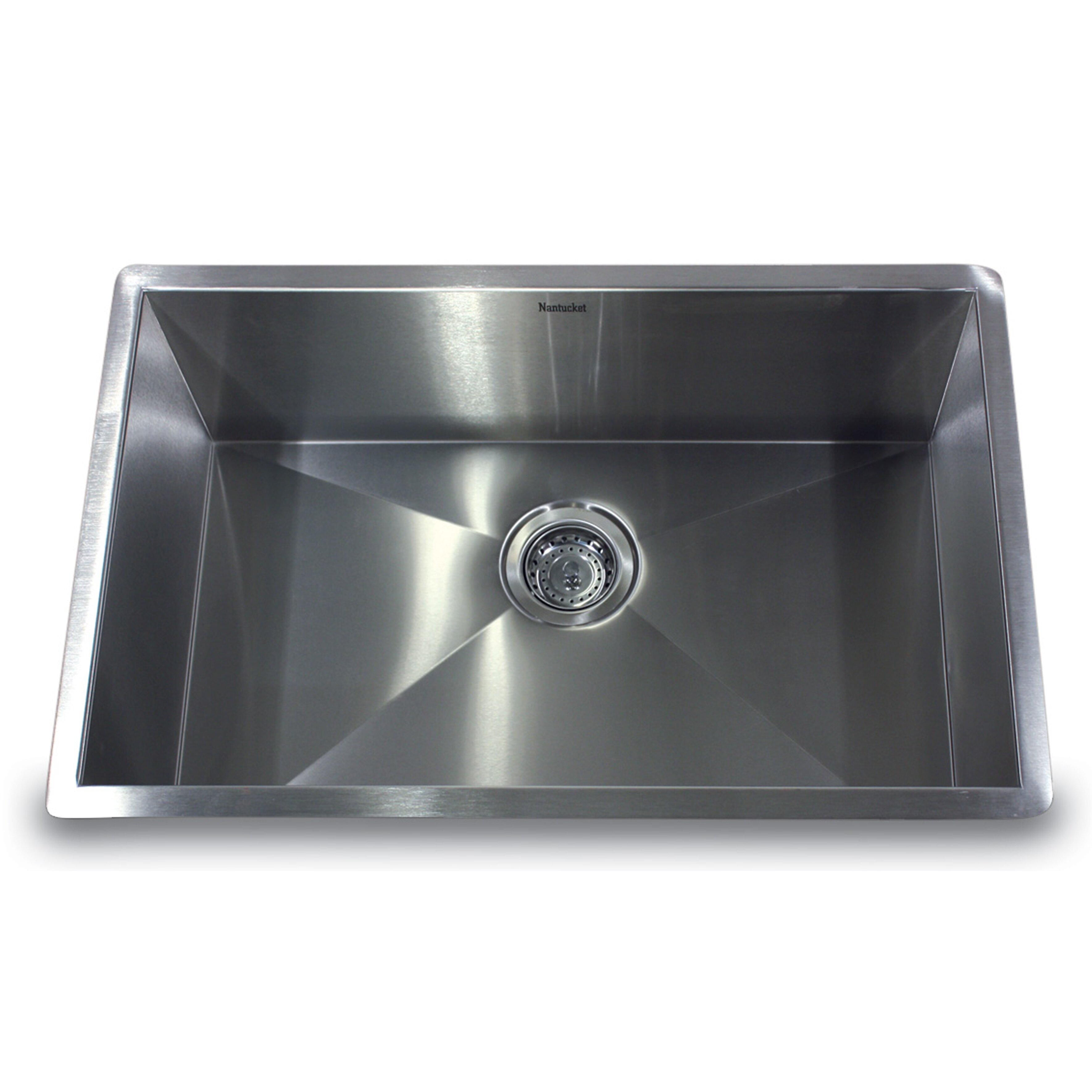 nantucket sinks pro series 28 x 18 large rectangle stainless steel single bowl kitchen sink. Black Bedroom Furniture Sets. Home Design Ideas