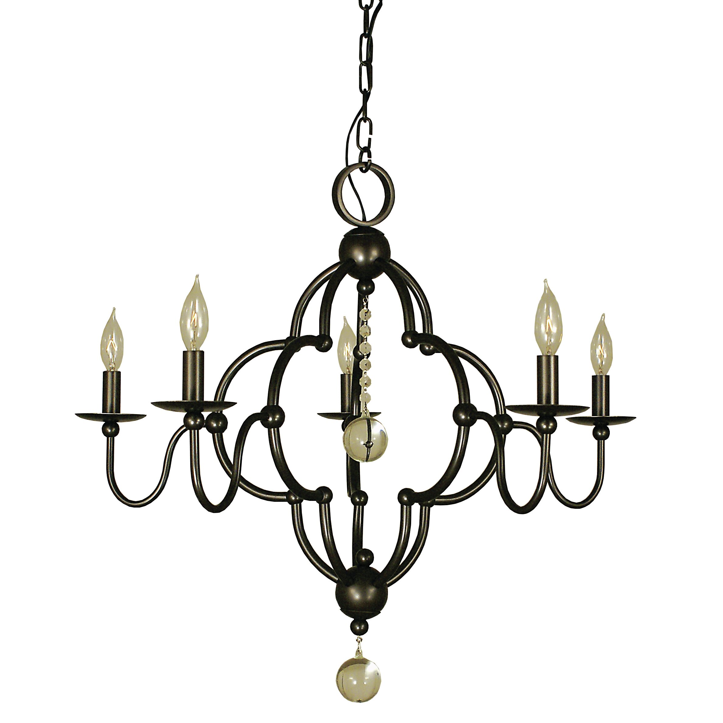 Quatrefoil 5 Light Candle Chandelier
