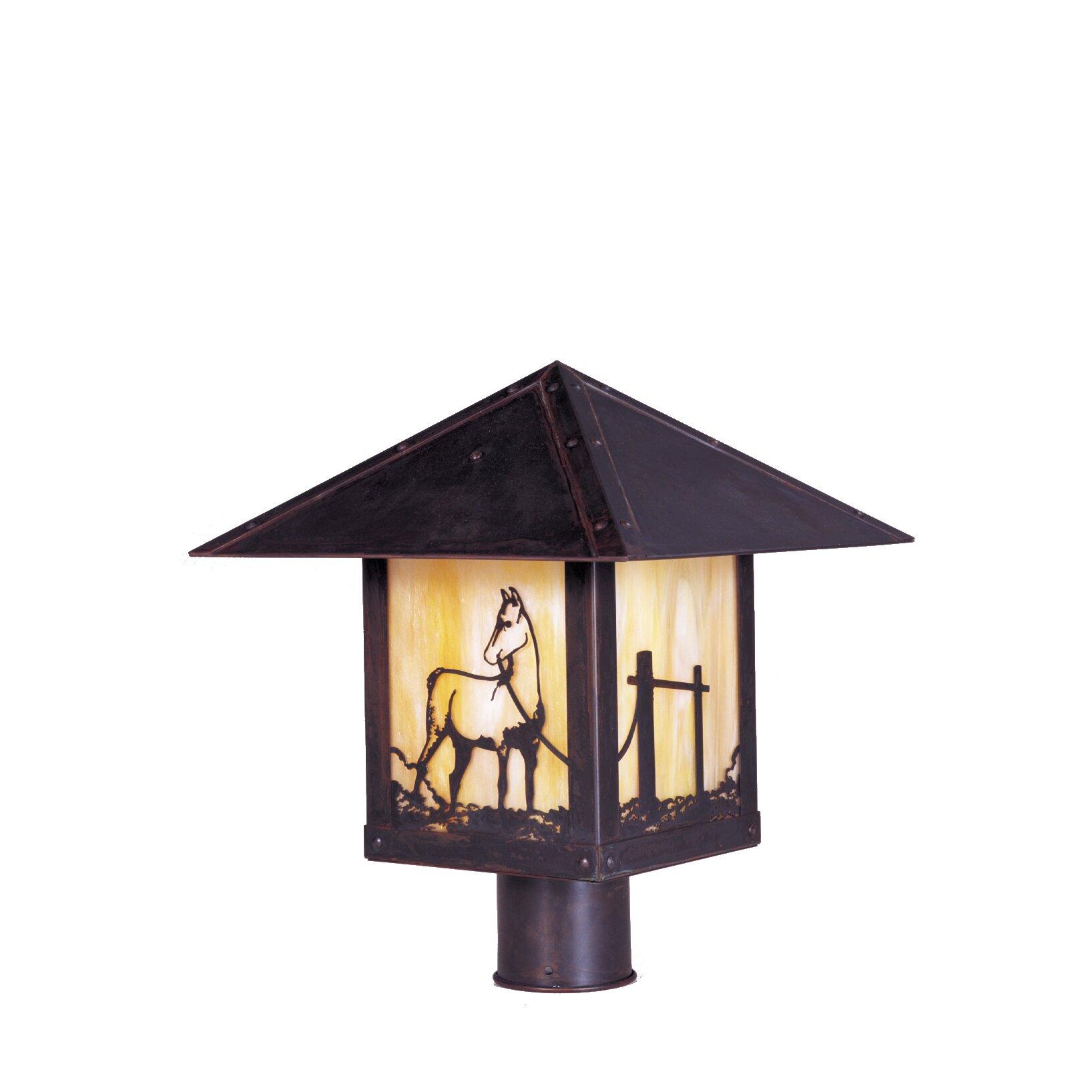 Arroyo Craftsman Timber Ridge 1 Light Outdoor Post Light