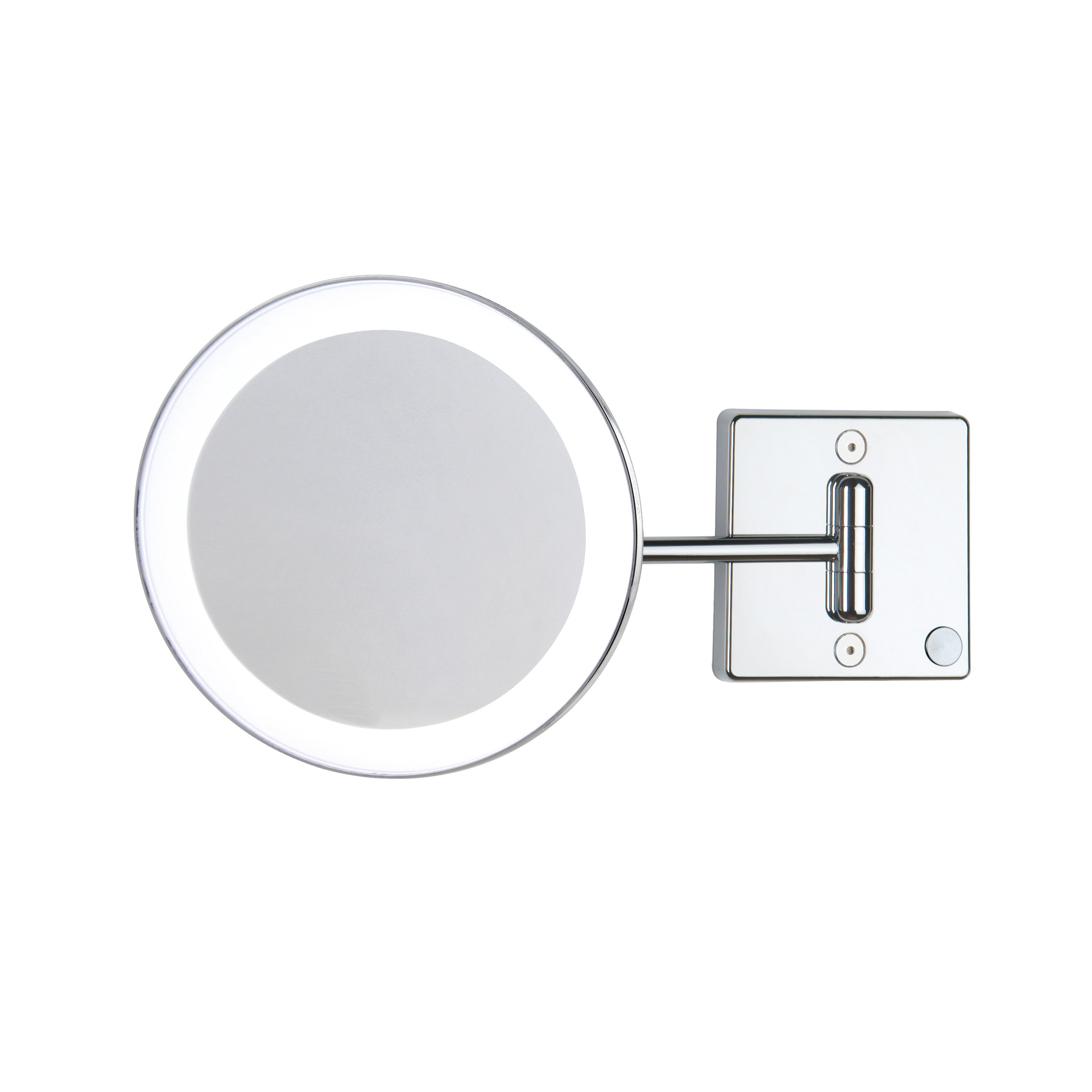 ws bath collections discololed led lighted 3x magnifying makeup mirror. Black Bedroom Furniture Sets. Home Design Ideas