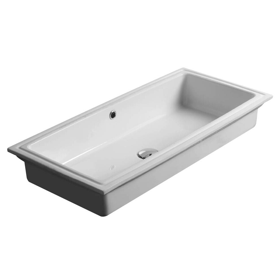 Rectangular Bathroom Sinks Undermount : WS Bath Collections City Rectangular Undermount Bathroom Sink with ...