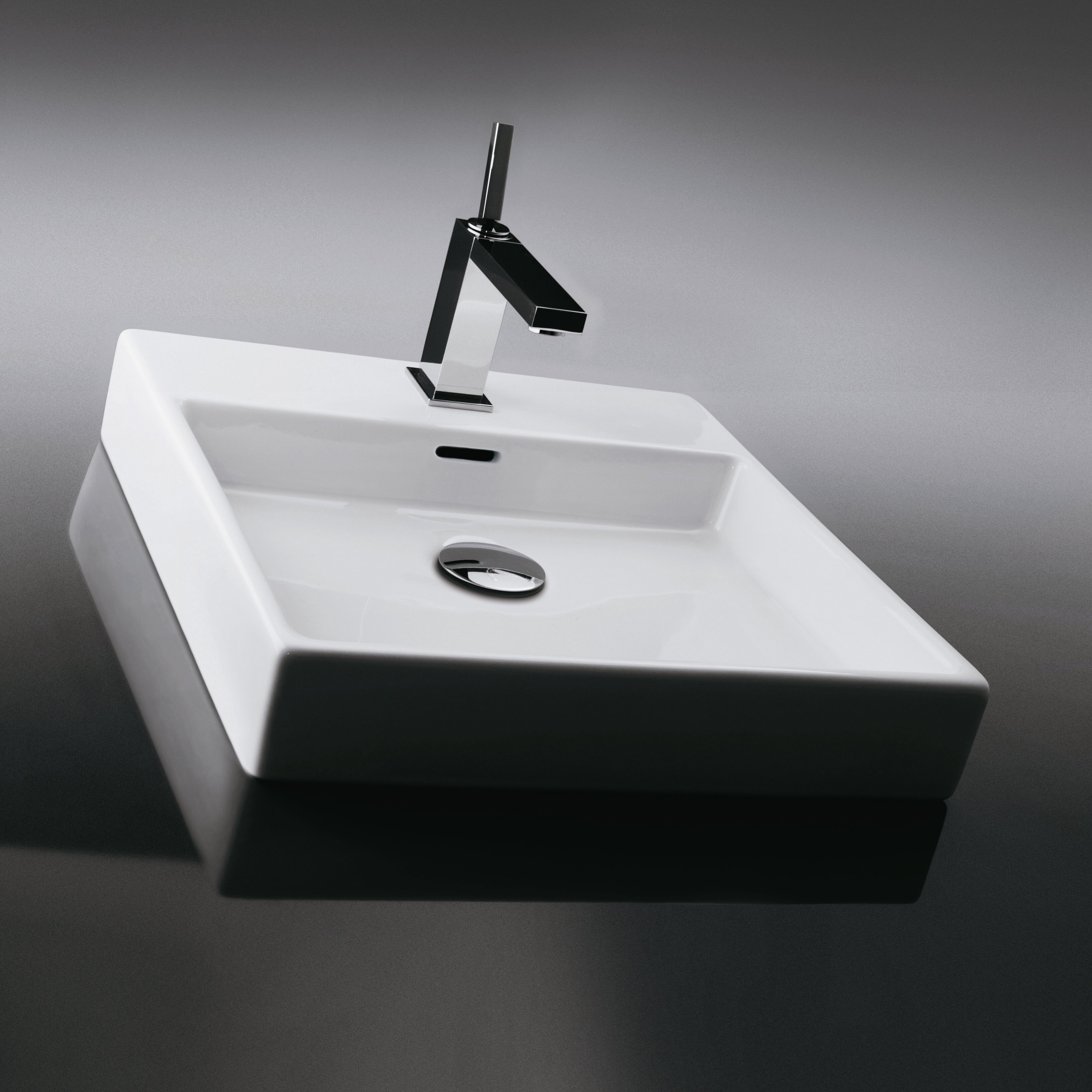 Sink Attached To Wall : ... Ceramica Plain Wall Mounted / Vessel Bathroom Sink & Reviews Wayfair