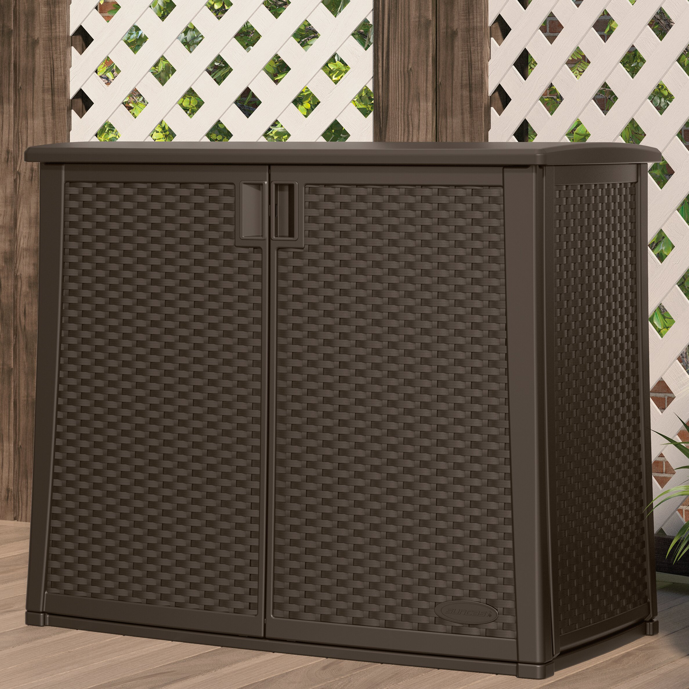 "Outdoor Cabinets: Suncast 35.25"" H X 42.25"" W X 23"" D Outdoor Storage"