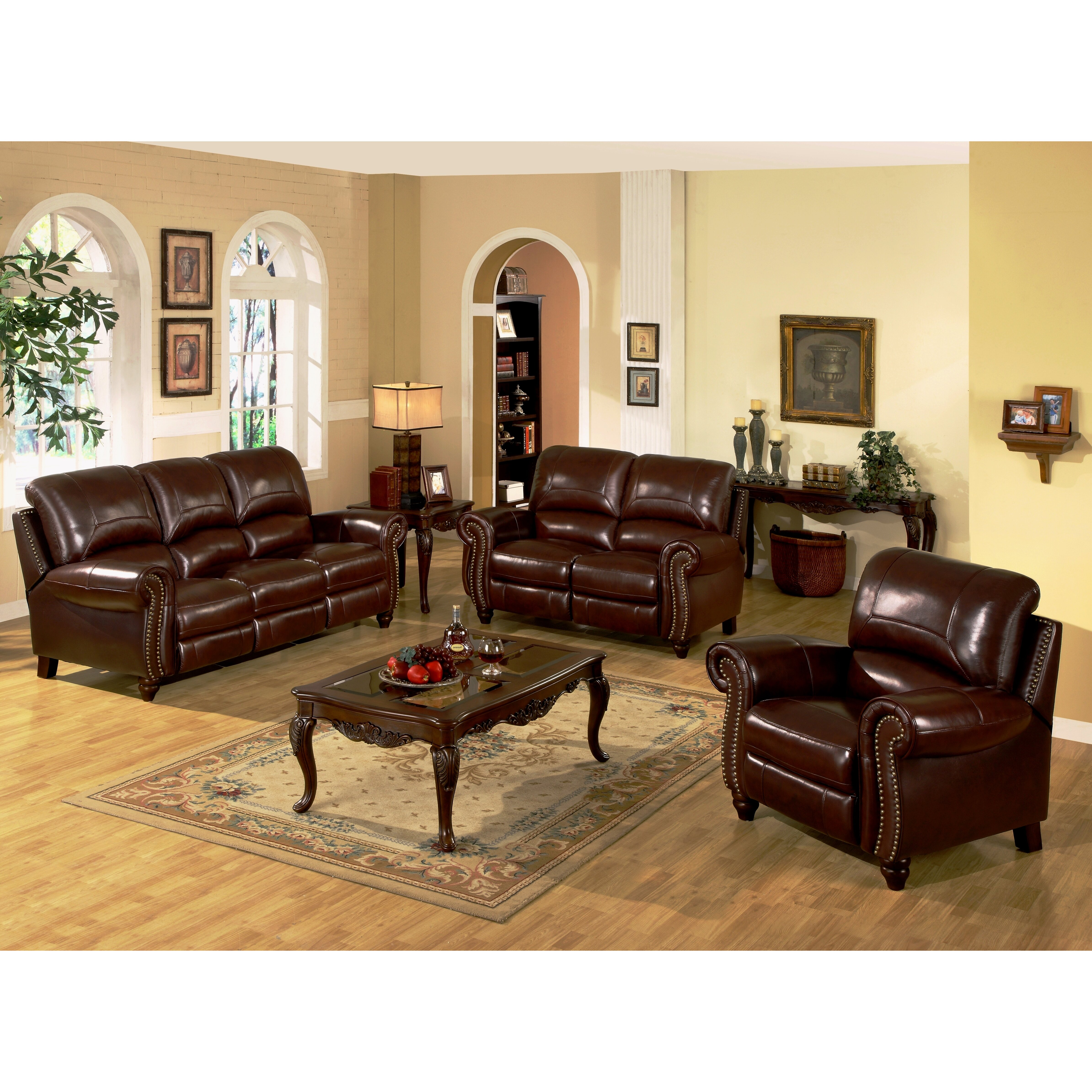 Abbyson Living Charlotte Leather Reclining Sofa Reviews Wayfair Supply
