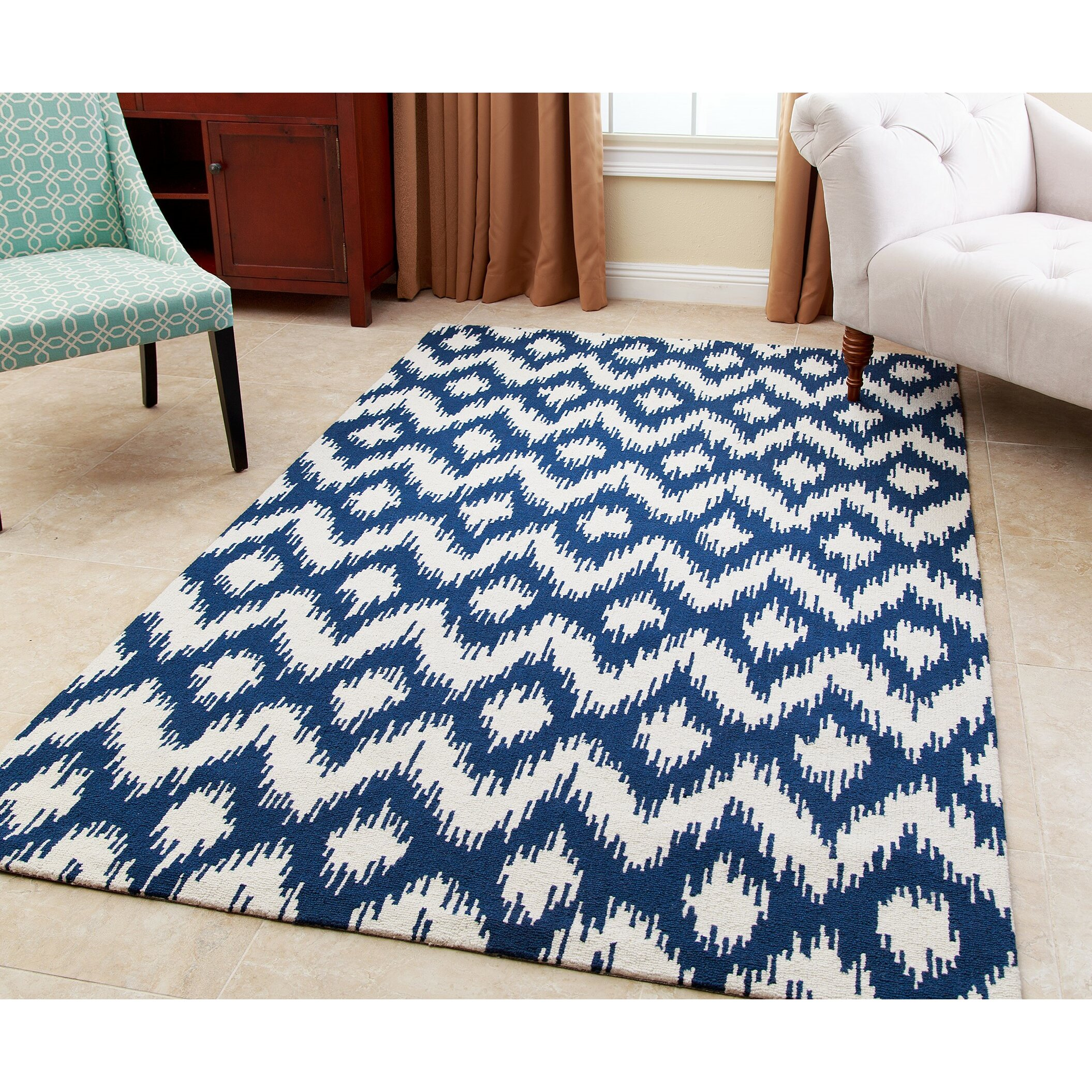 Wonderful Ellie Hand Tufted Royal Blue Area Rug By Abbyson Living