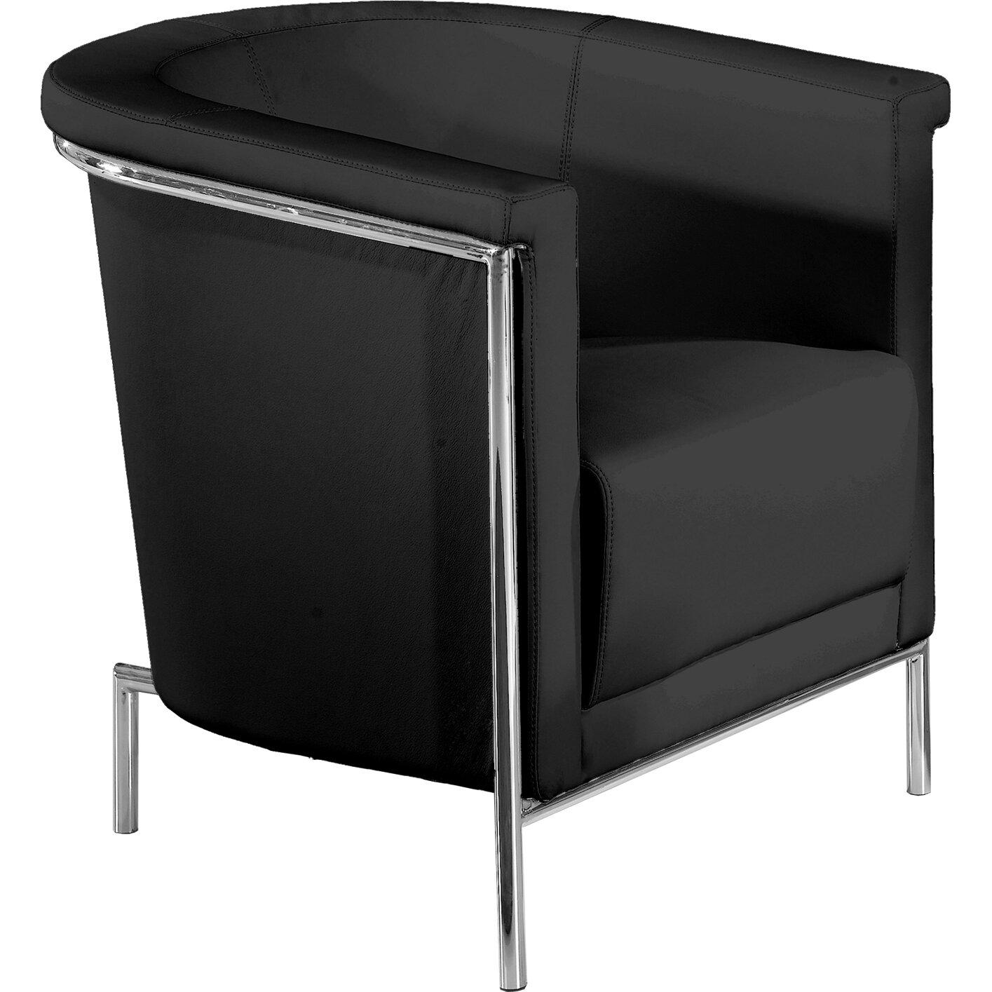 Bellini Modern Living Blanca Leatherette Chair Amp Reviews Wayfair