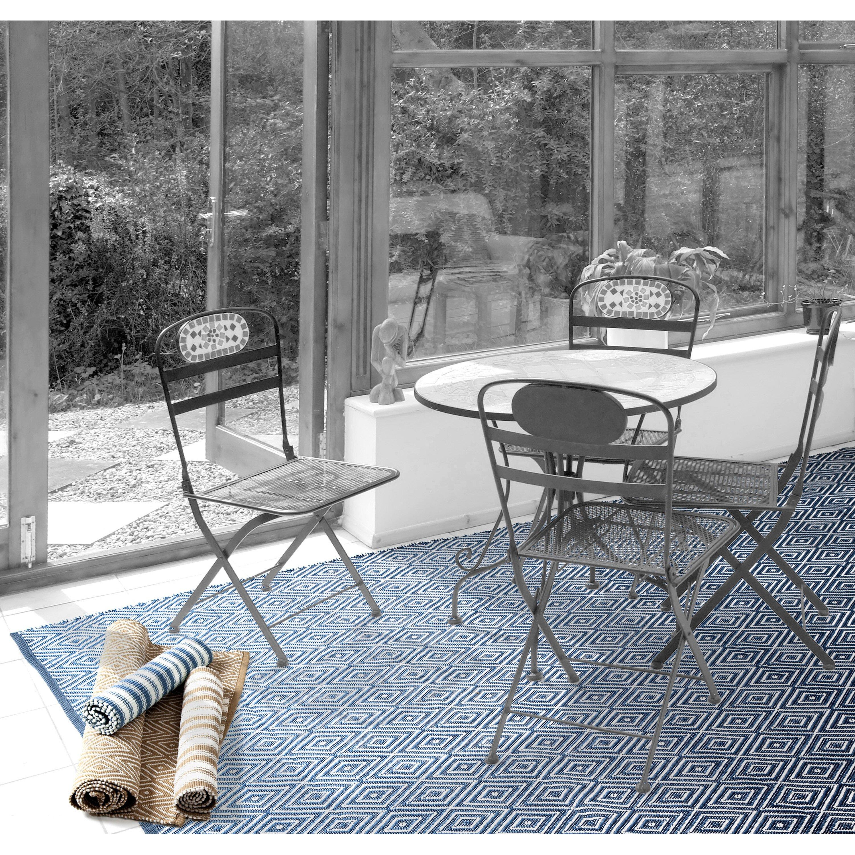 Dash and Albert Rugs Hand Woven Blue Indoor Outdoor Area