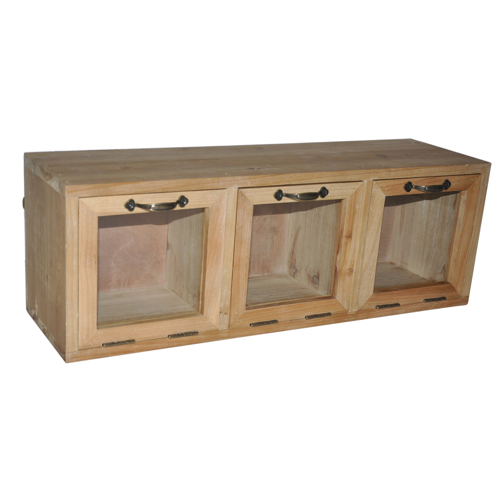 Amazing photo of Cheungs Wood Hanging Storage Cabinet with Glass Doors & Reviews  with #8E693D color and 1657x1657 pixels