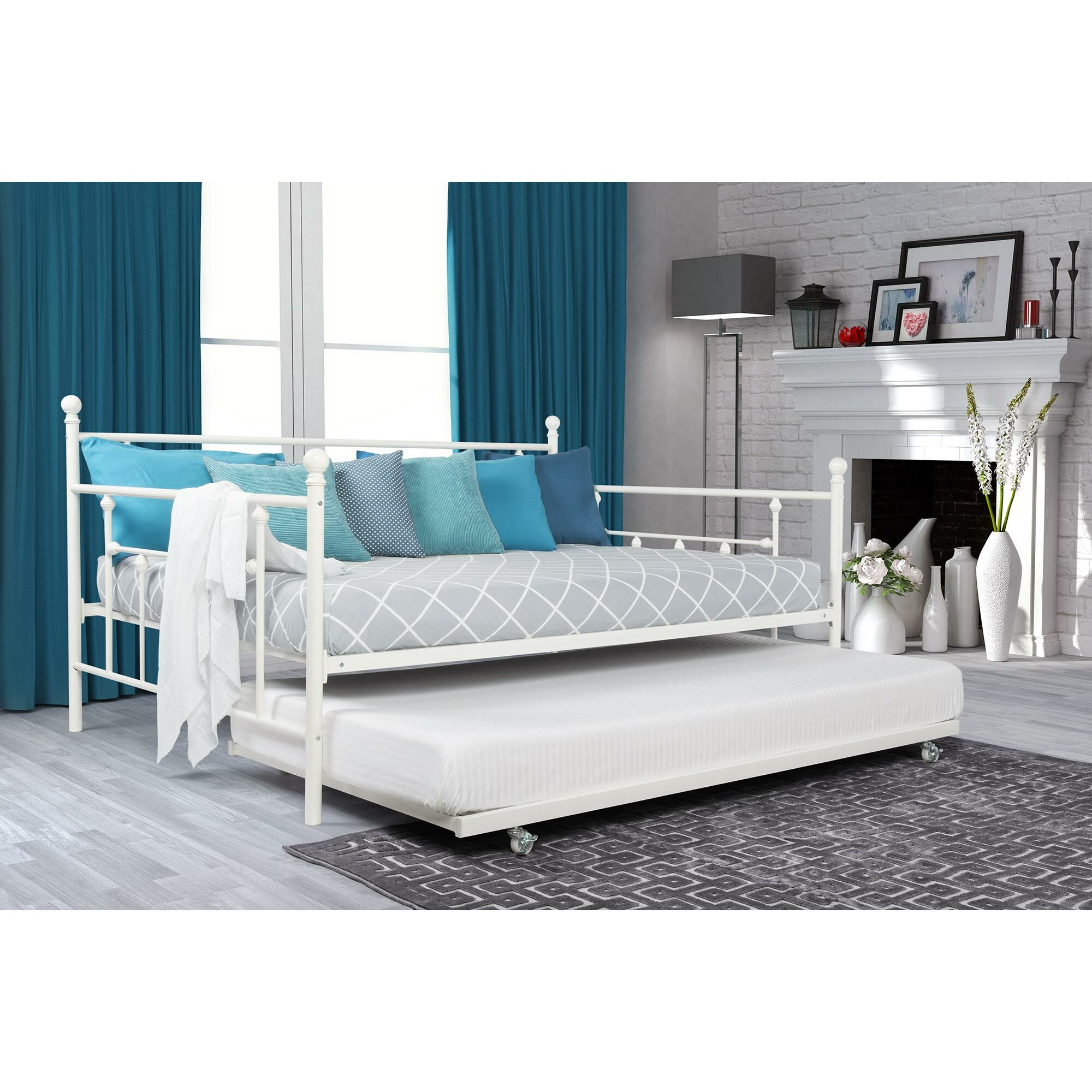 Dhp Manila Daybed With Trundle Amp Reviews Wayfair