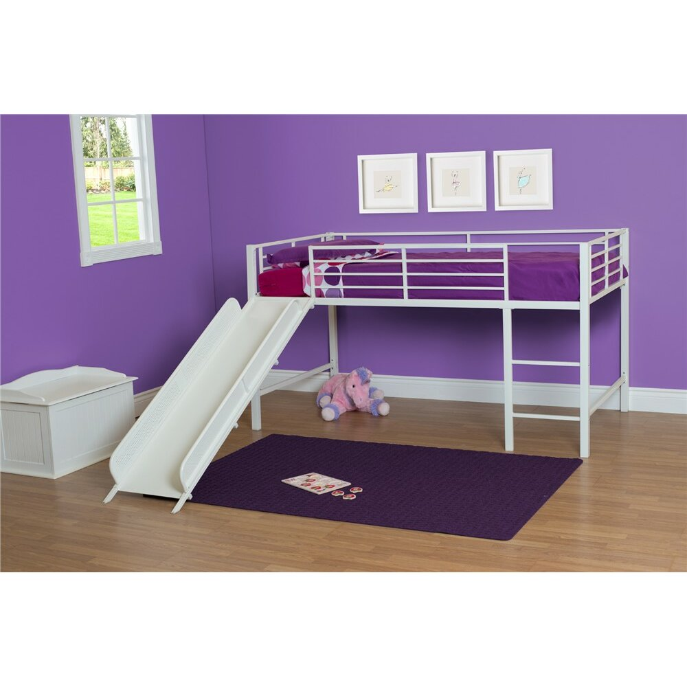 dhp junior twin low loft bed reviews wayfair. Black Bedroom Furniture Sets. Home Design Ideas