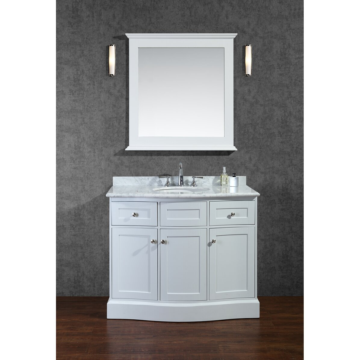 ariel bath montauk 42 single bathroom vanity set with mirror