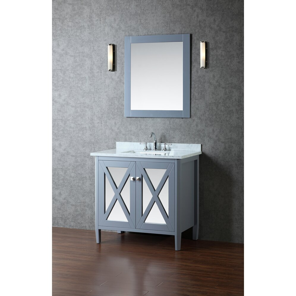 ariel bath summit 36 single bathroom vanity set with mirror revie