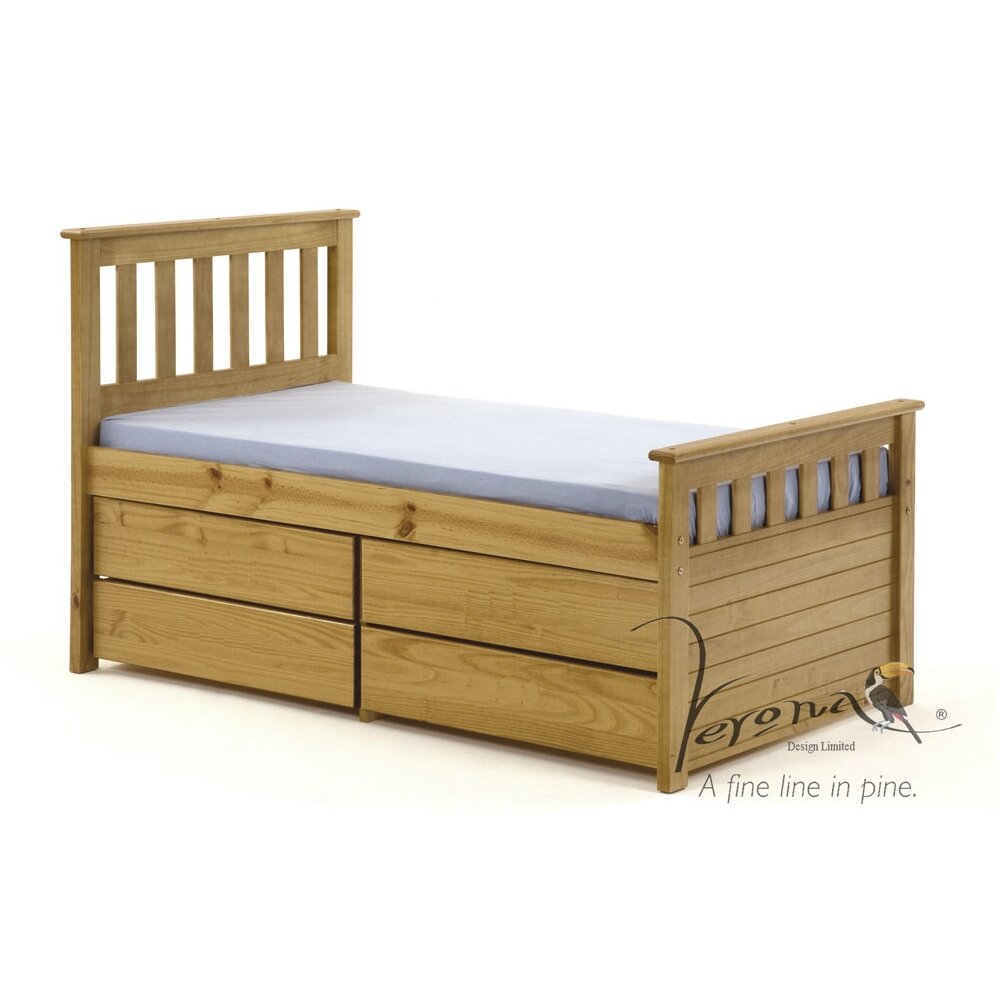 ferrara kids captains bed frame with underbed storage wayfair uk. Black Bedroom Furniture Sets. Home Design Ideas
