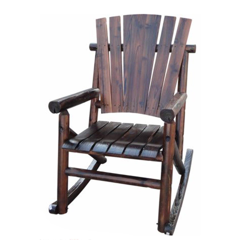 LeighCountry Char Log Single Rocking Chair I & Reviews