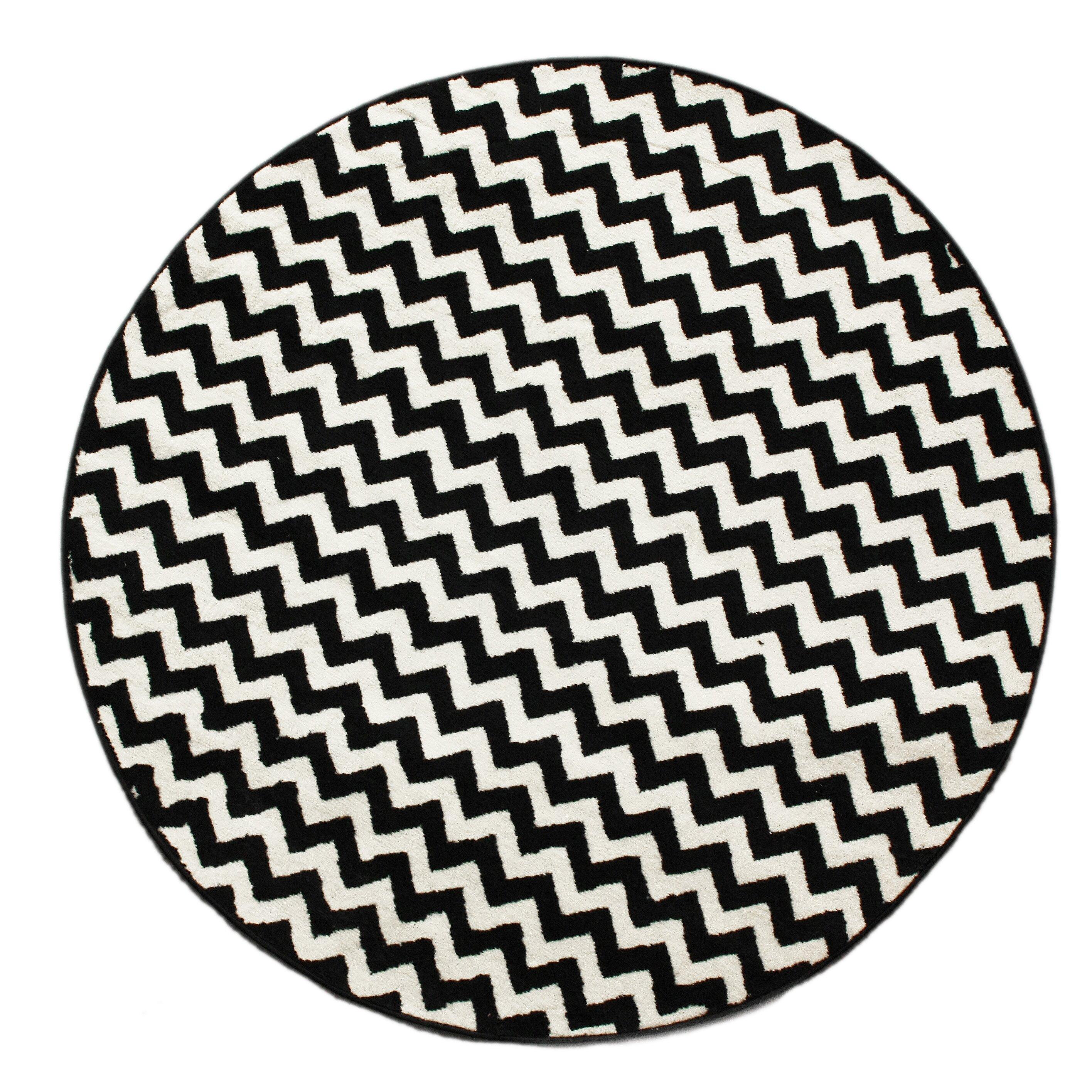 Nuloom Black And White Rug: NuLOOM Kinder Chevron Ivory/Black Area Rug & Reviews