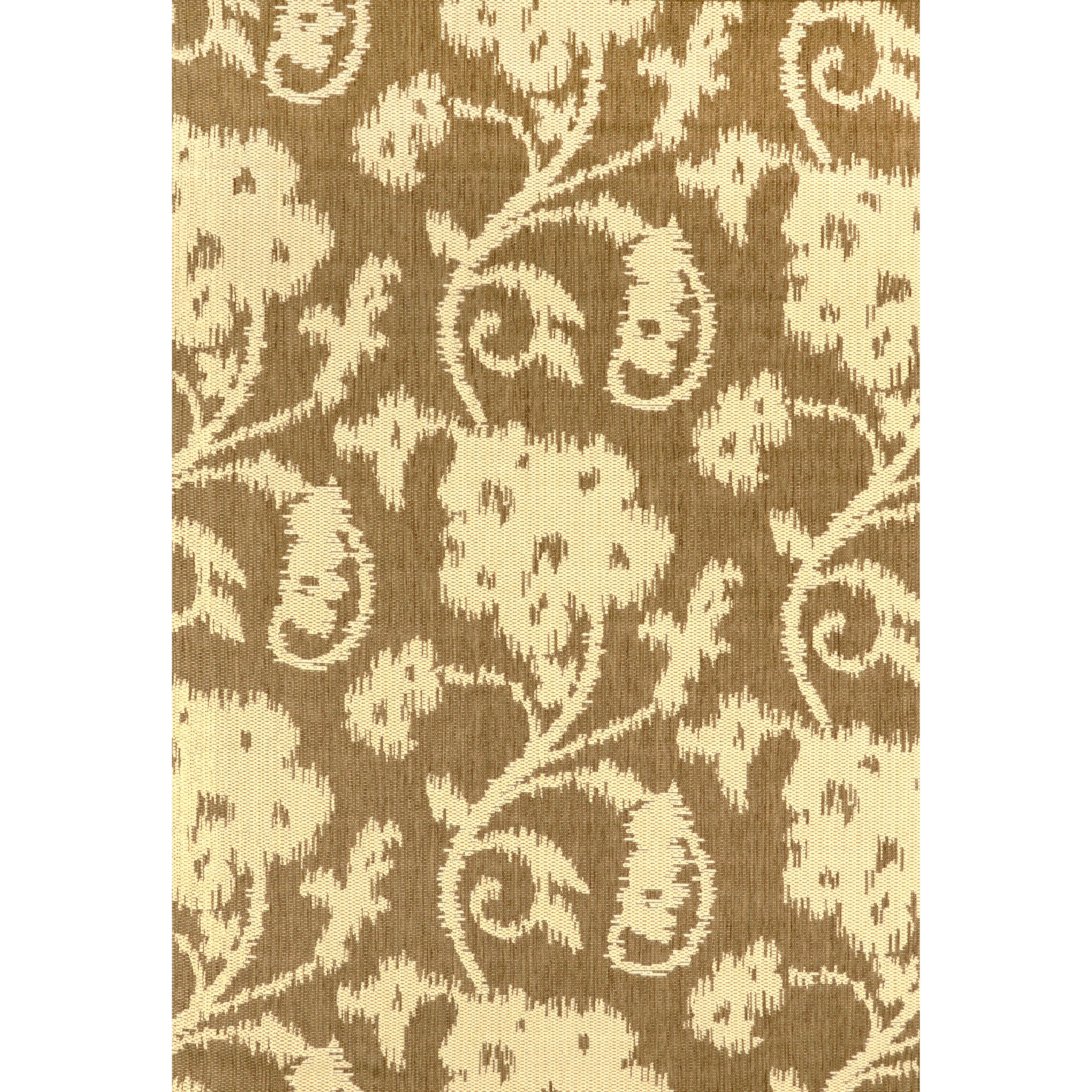 nuLOOM Floral Santiago Taupe Outdoor Area Rug & Reviews