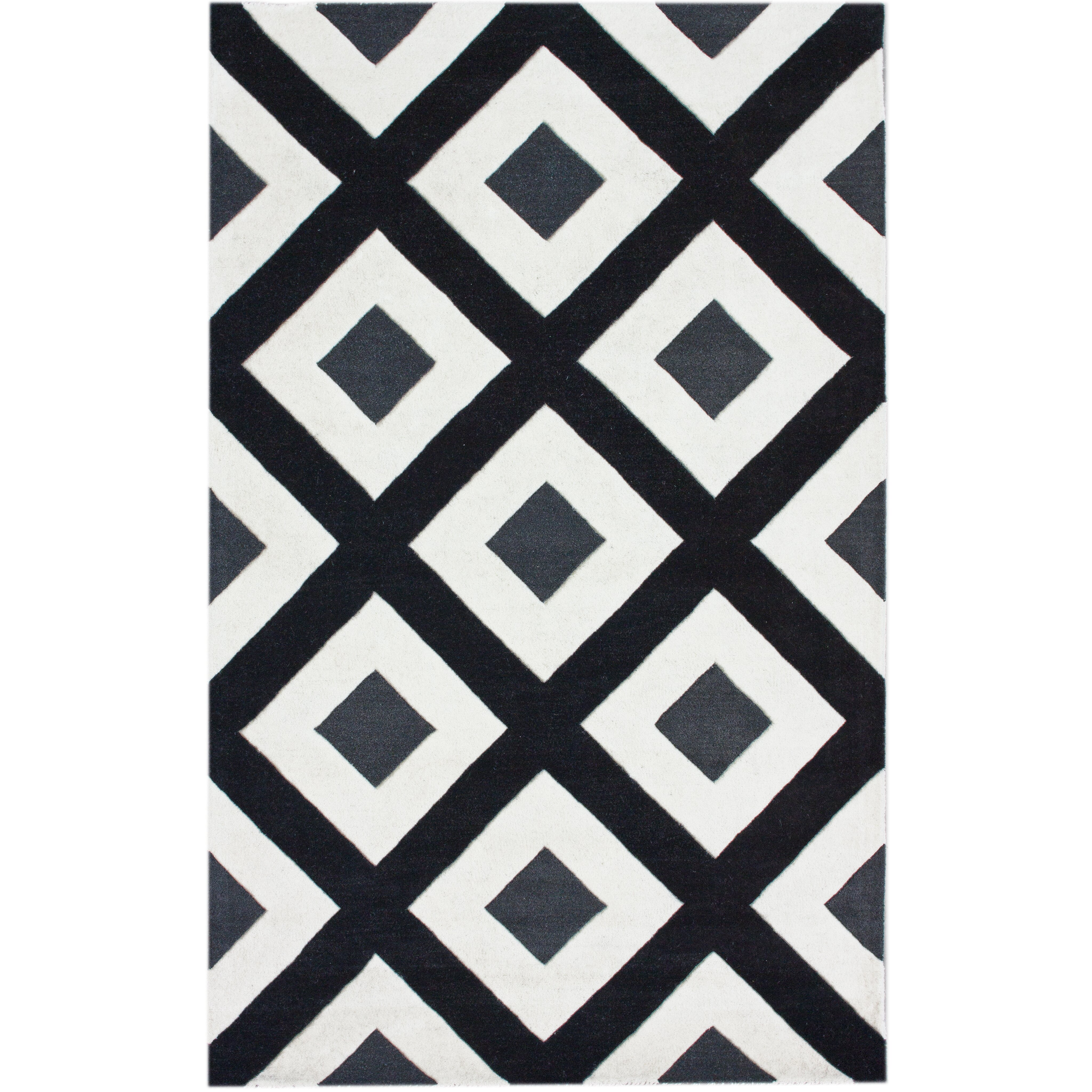 Nuloom Bella Diamonds Black Amp White Area Rug Amp Reviews