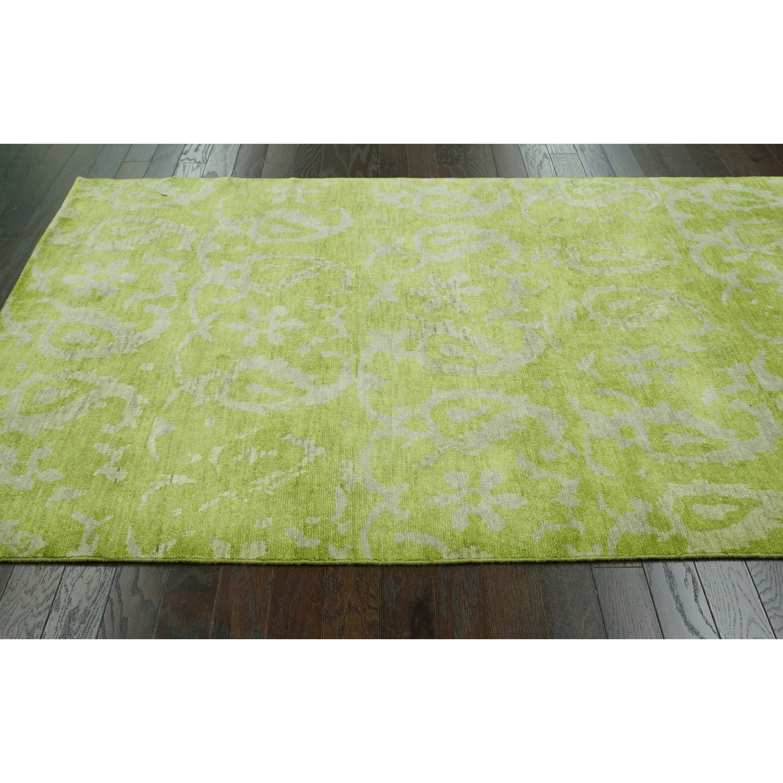 zem mika sage green area rug wayfair. Black Bedroom Furniture Sets. Home Design Ideas