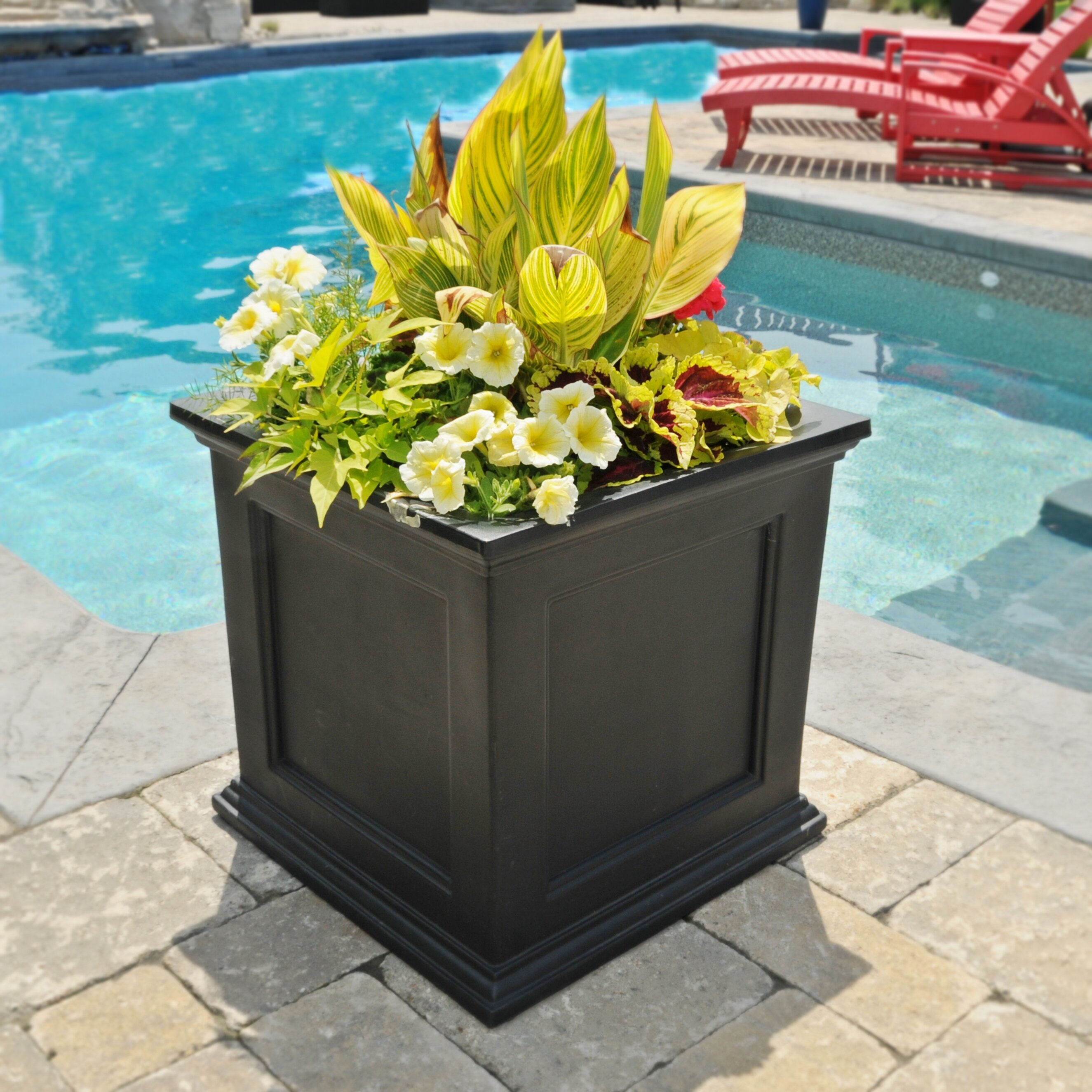mayne inc fairfield square planter box reviews wayfair