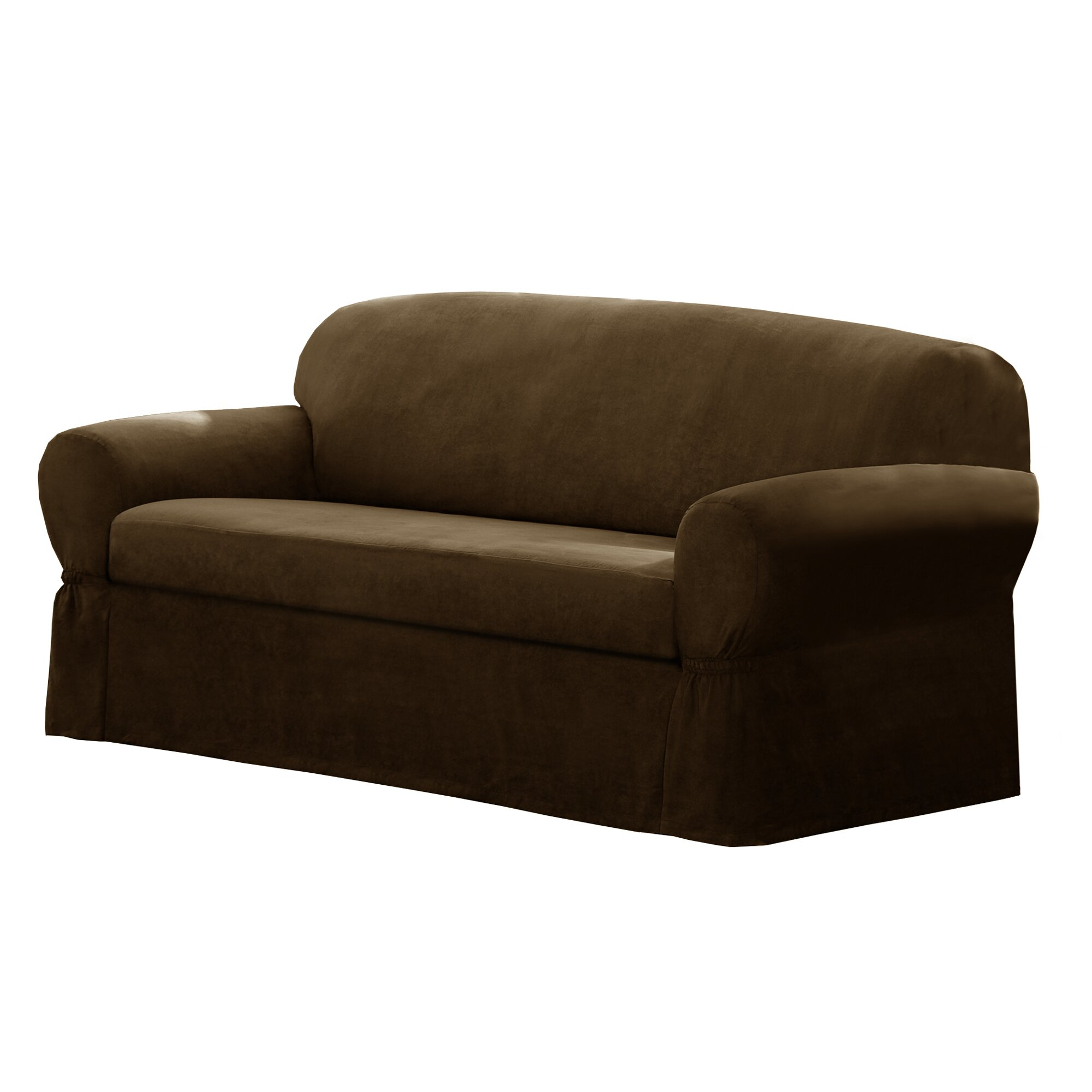 Maytex T-Cushion Loveseat/Sofa Slipcover & Reviews | Wayfair