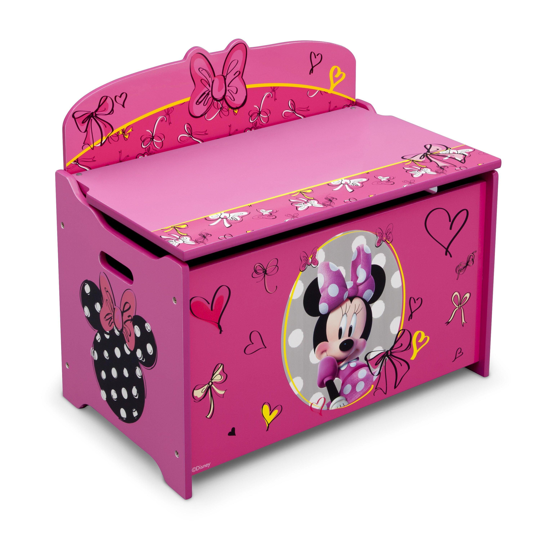 Delta Children Minnie Mouse Deluxe Toy Box Amp Reviews Wayfair