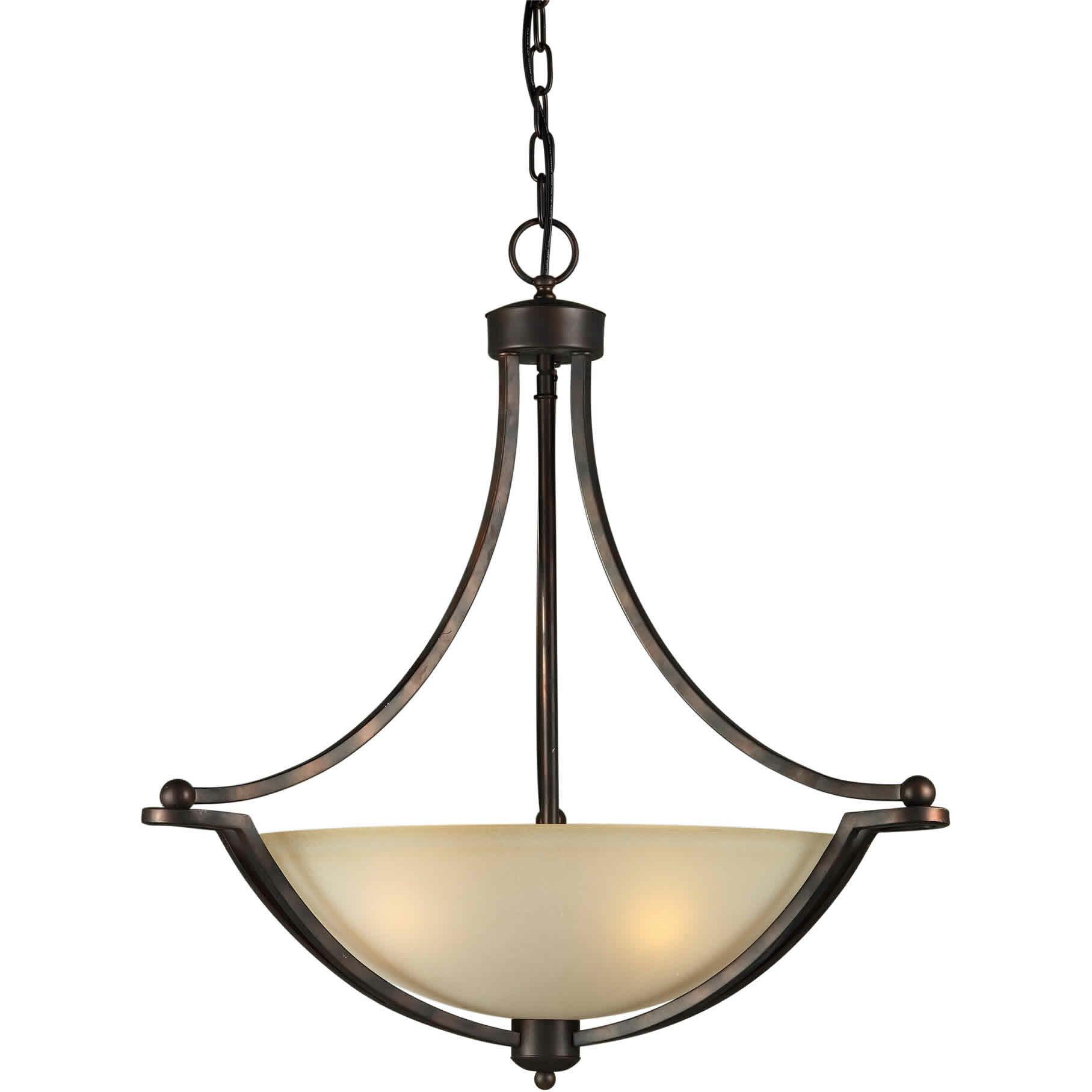 4 light bowl inverted pendant wayfair