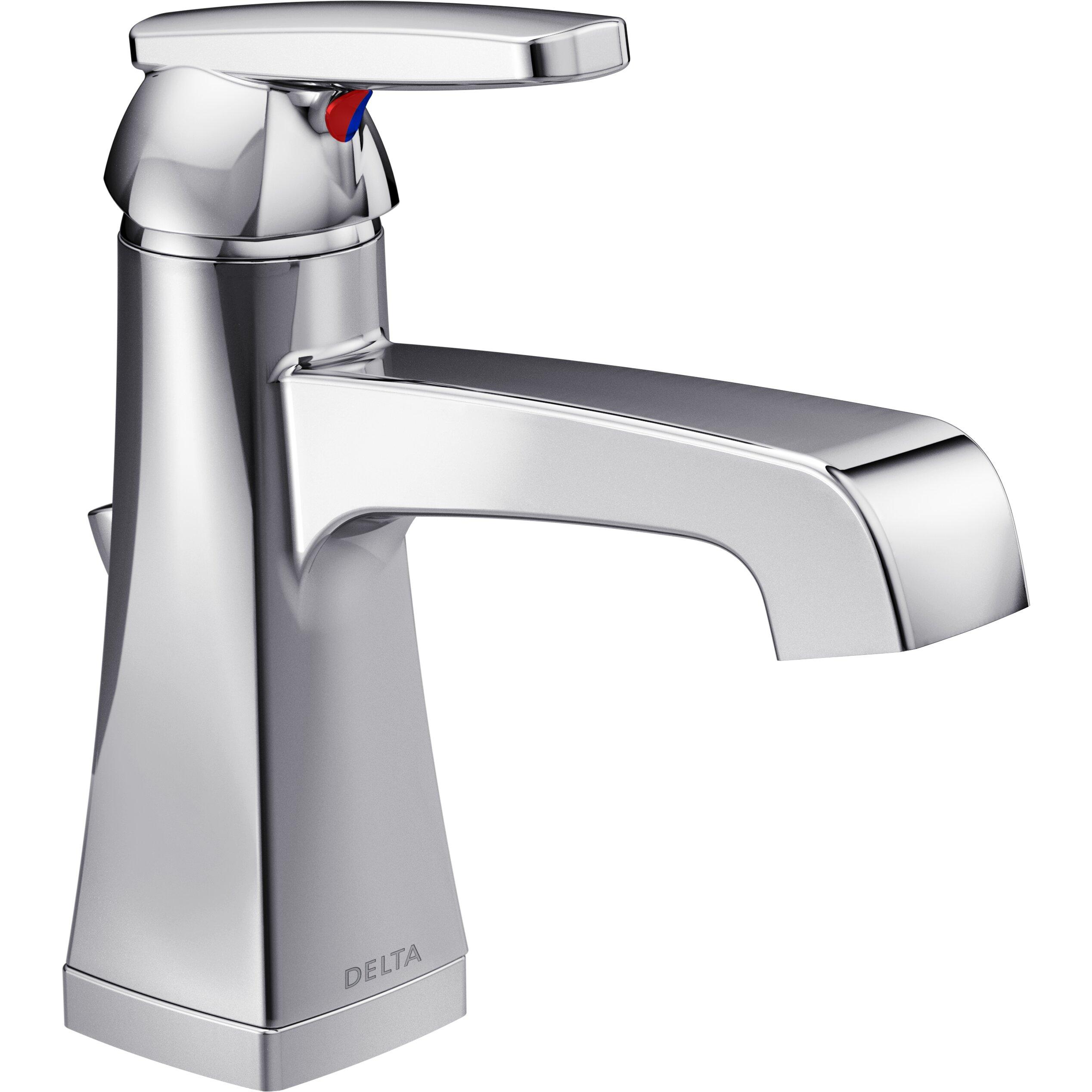Delta Ashlyn Single Handle Centerset Lavatory Faucet With Drain Reviews Wayfair