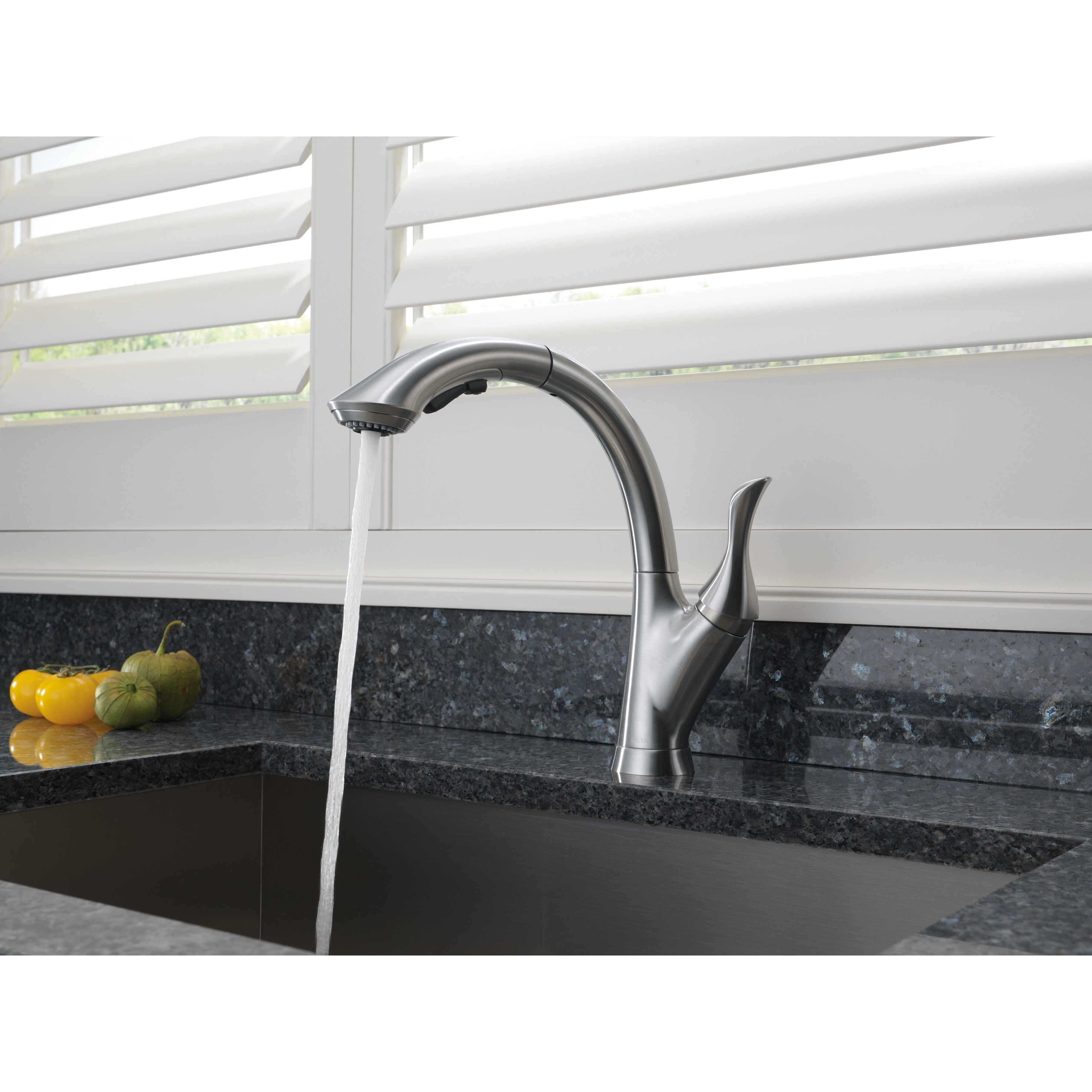 Faucet 4353T-AR-DST Linden Single Handle Touch2O Pull-Out Kitchen ...