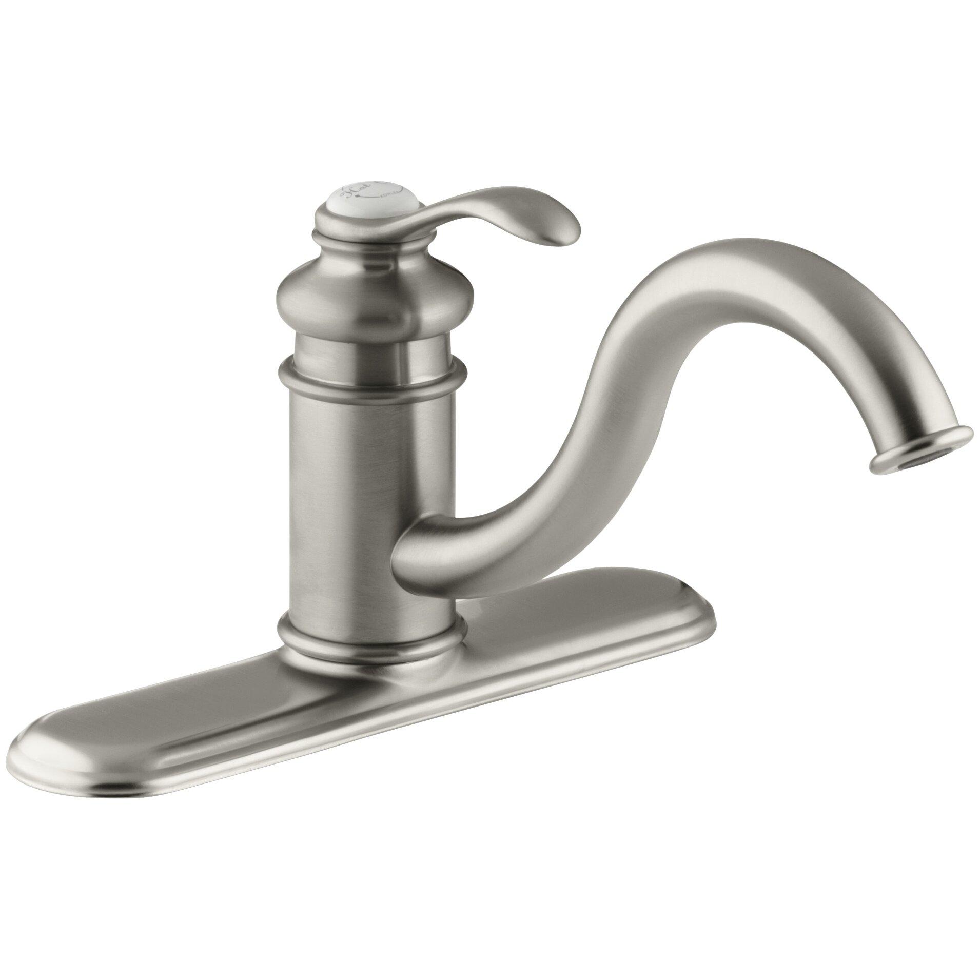 Kohler Fairfax Faucet : kohler k cp fairfax single handle kitchen faucet with matching side ...