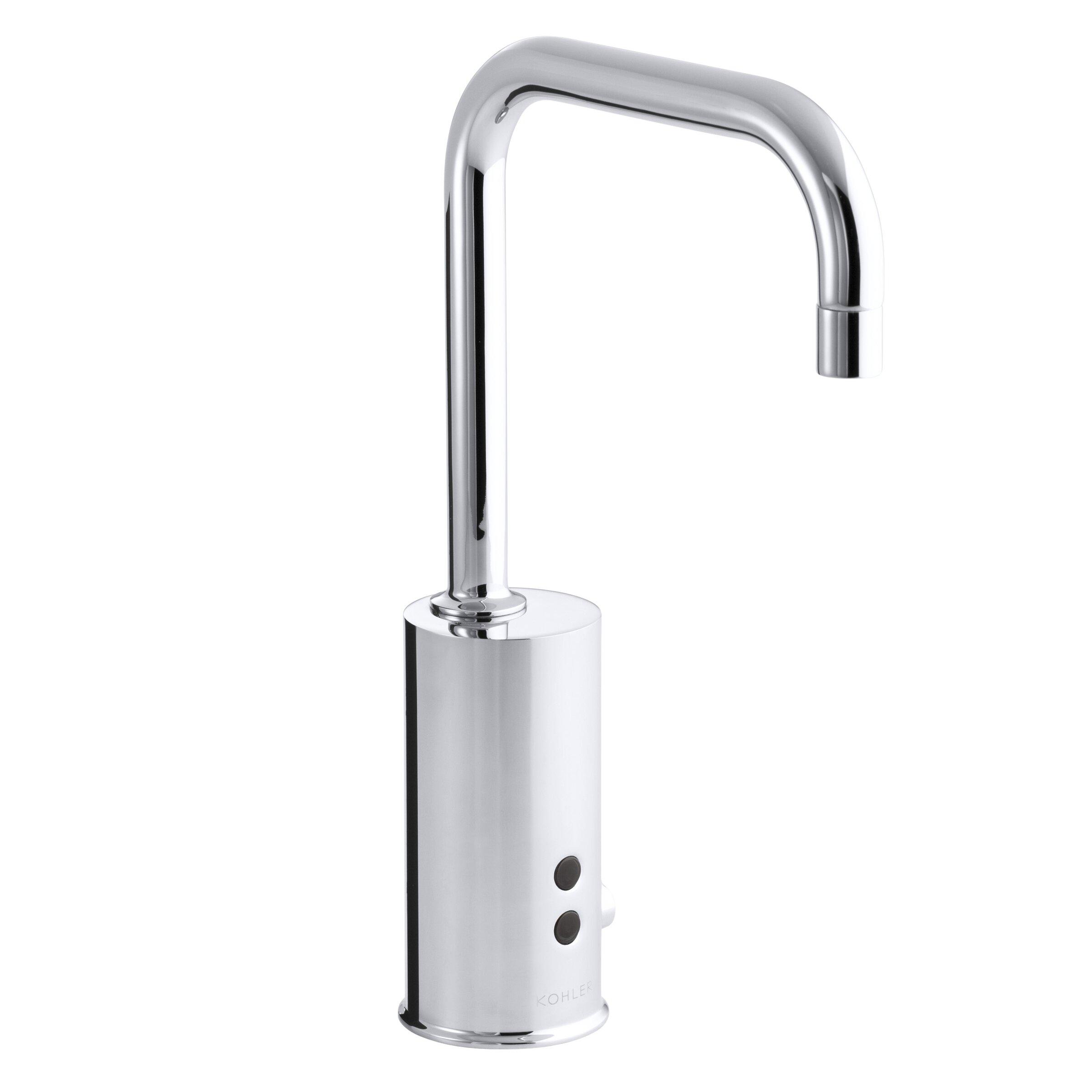 Commercial Gooseneck Faucet : Kohler Gooseneck Single-Hole Touchless Ac-Powered Commercial Faucet ...