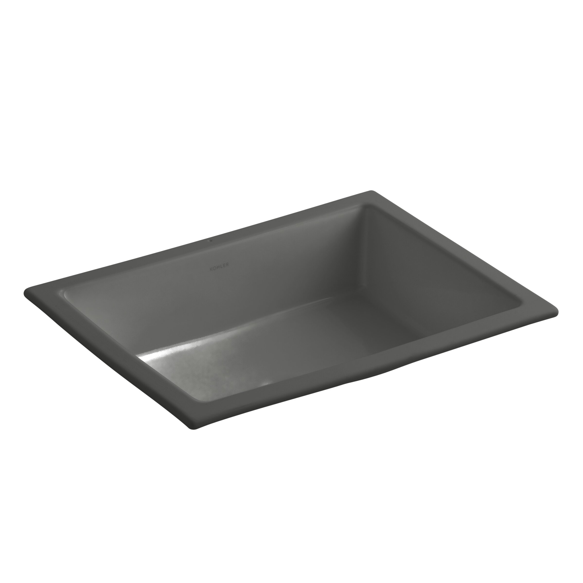 Kohler Rectangular Sink : Kohler Verticyl Rectangular Undermount Bathroom Sink with Overflow ...
