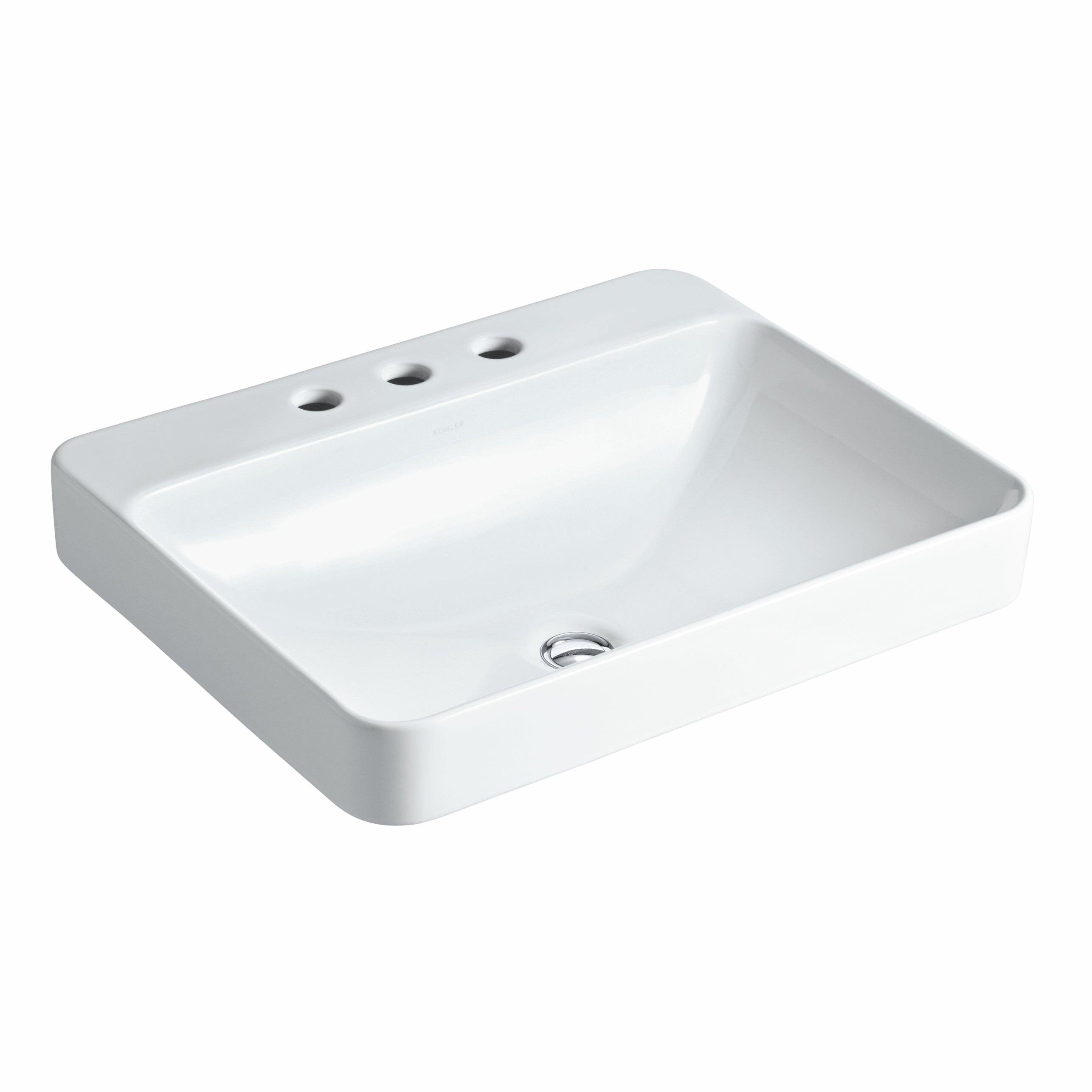 Kohler Vox Rectangular Vessel Above Counter Bathroom Sink Reviews Wayfair