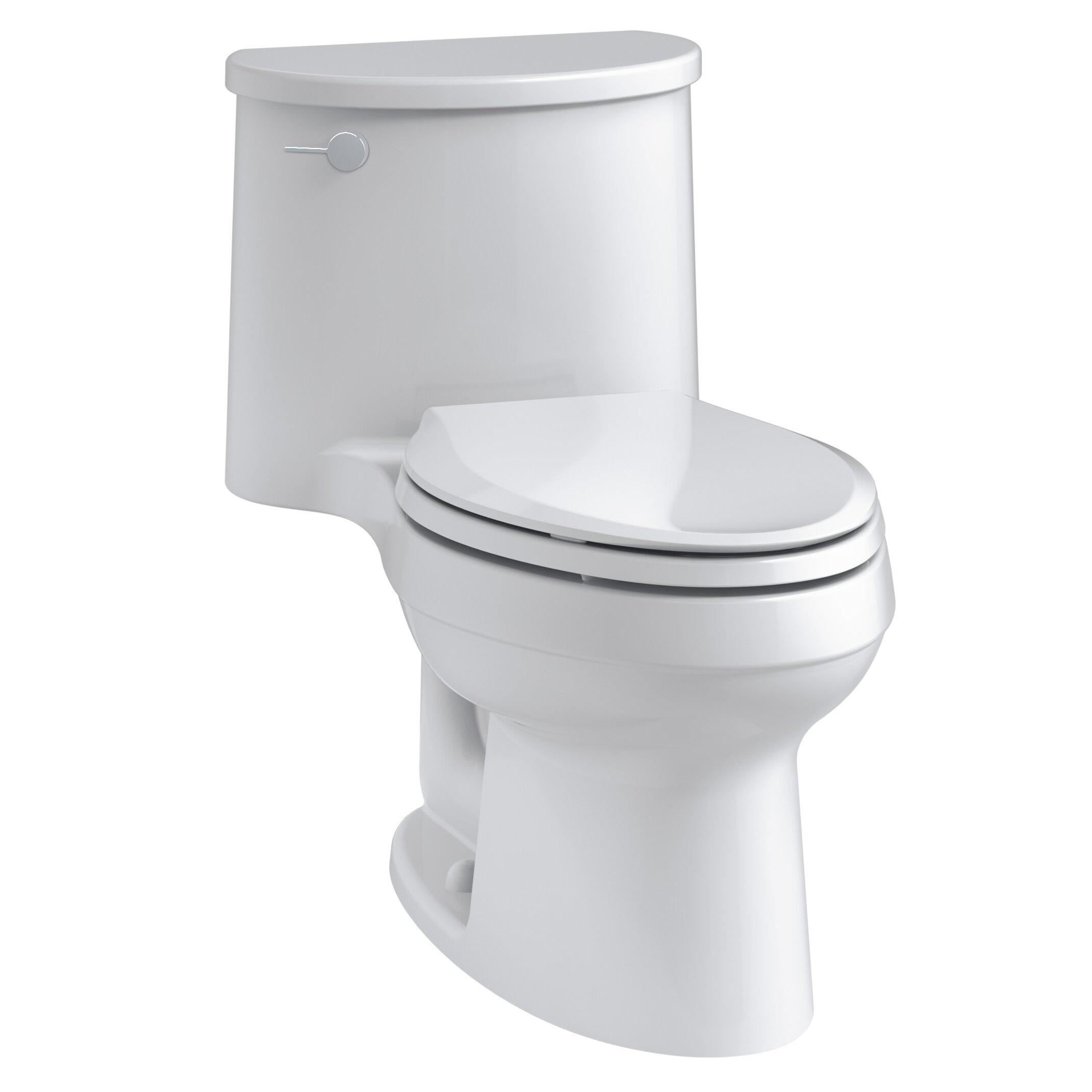 Adair One Piece Elongated 1 28 Gpf Toilet With Aquapiston