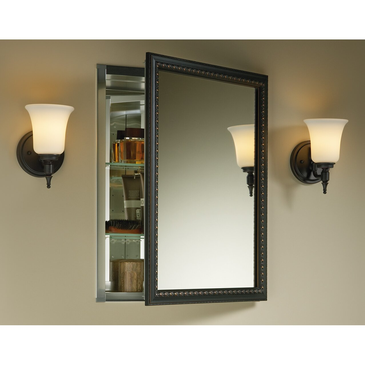 "Mounting Cabinet Doors To A Wall For An Accent Wall: Kohler 20"" X 26"" Wall Mount Mirrored Medicine Cabinet With"