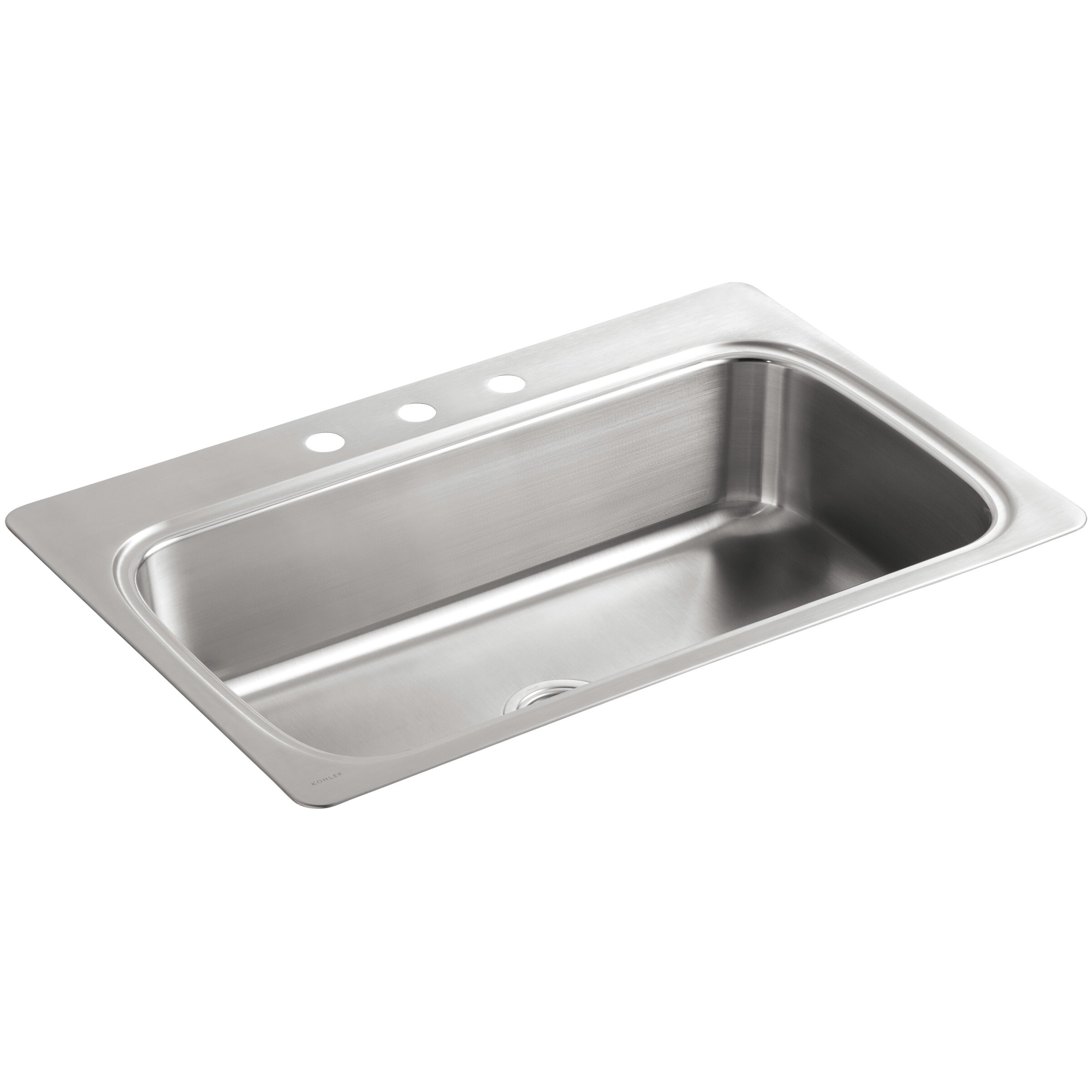 Kohler Single Basin Kitchen Sink : Kohler Verse 33