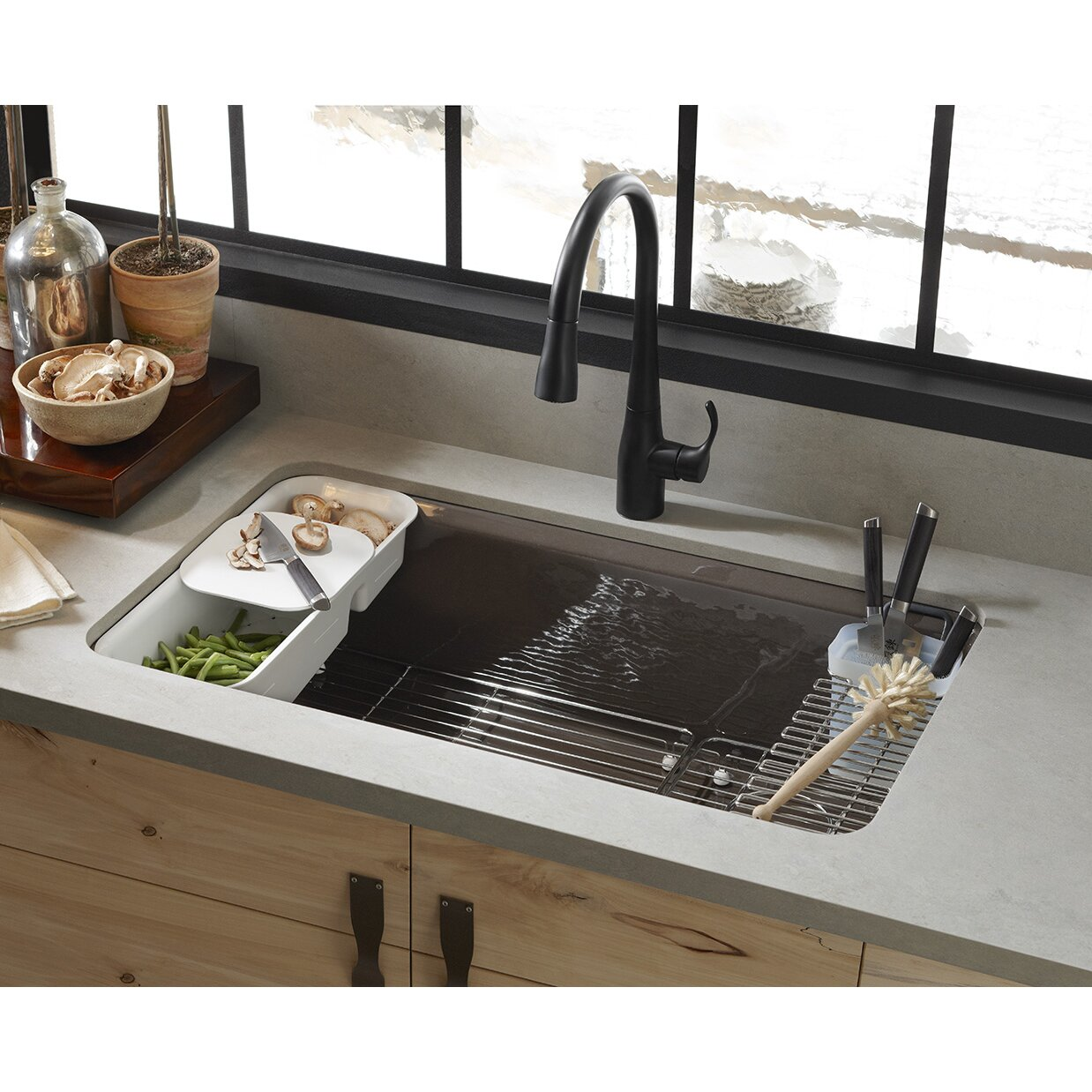 Riverby Utility Rack with Soaking Cup Wayfair