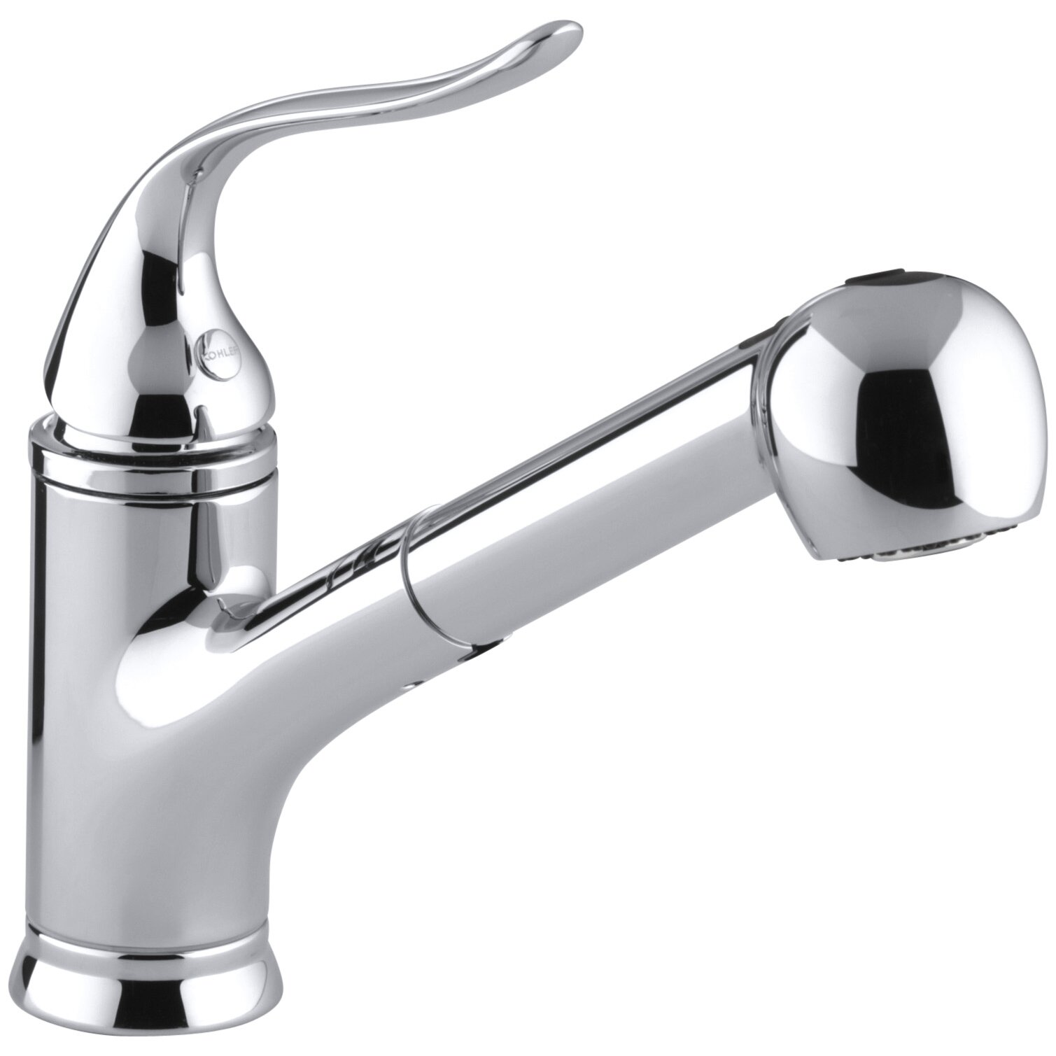Coralais Single-Hole or Three-Hole Kitchen Sink Faucet with Pullout ...