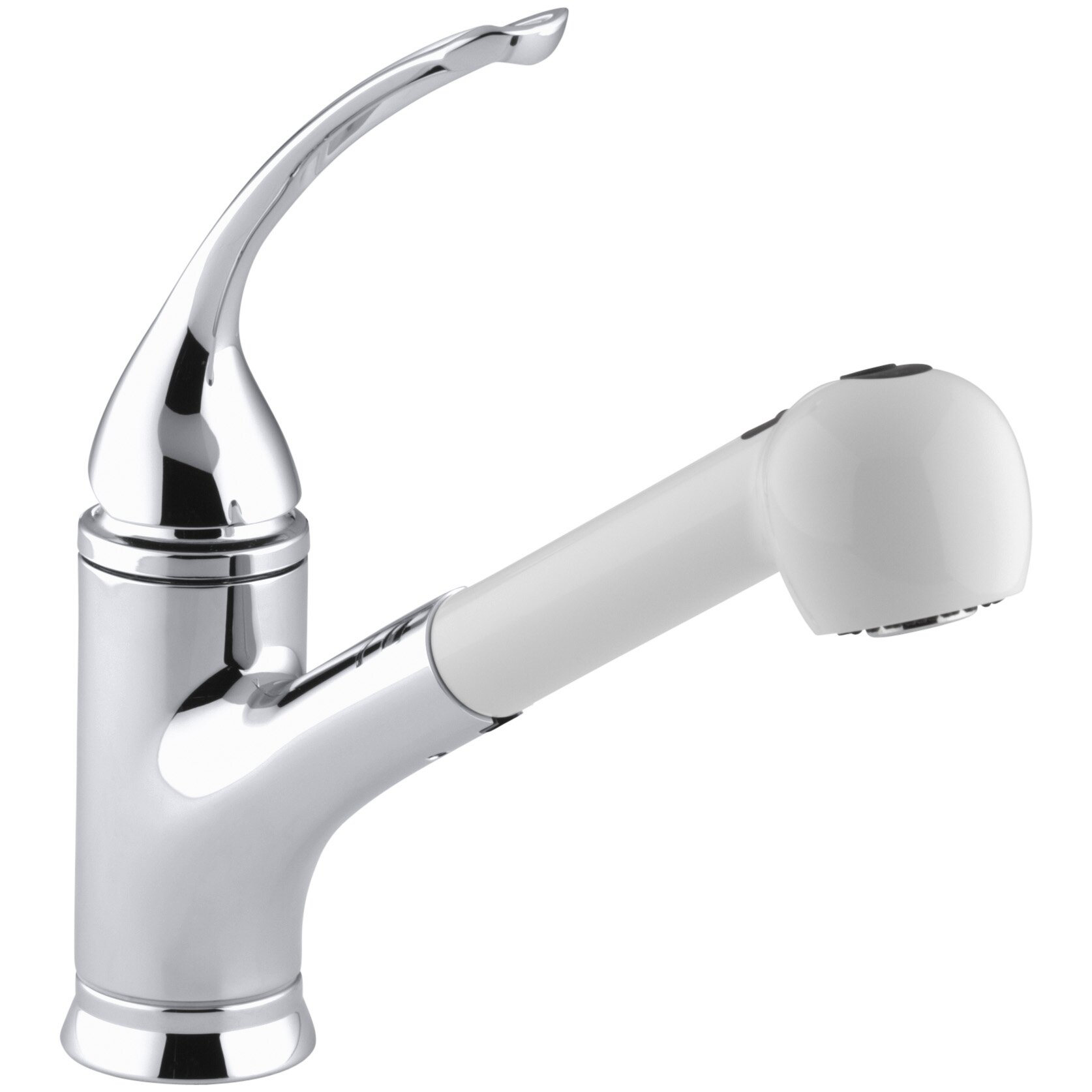 coralais single hole or three hole kitchen sink faucet with pullout