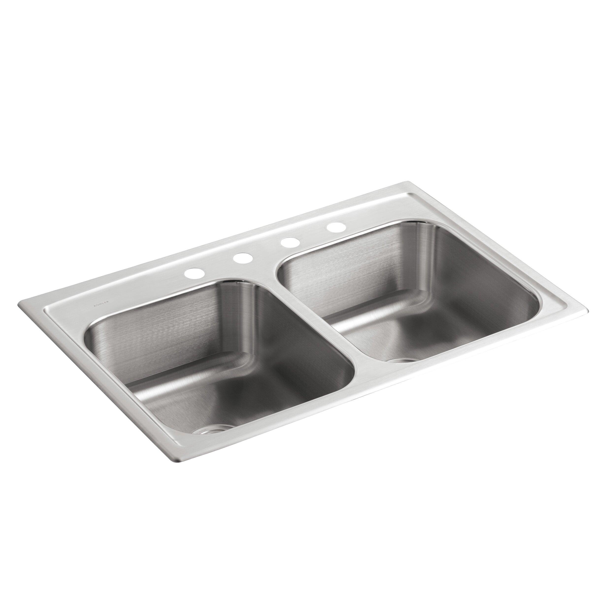 Kohler Double Sink : Kohler Toccata 33