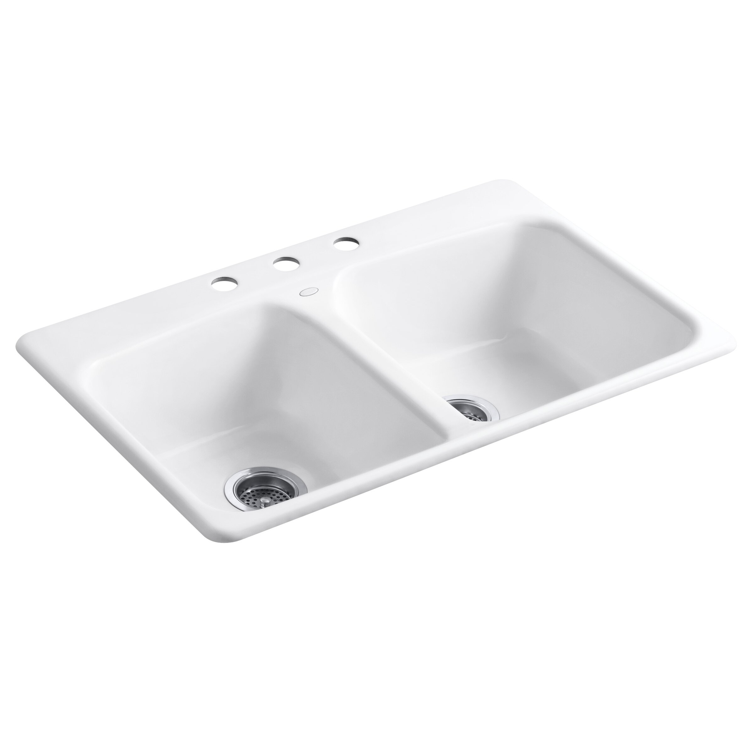 Kohler Brookfield Self Rimming Kitchen Sink & Reviews