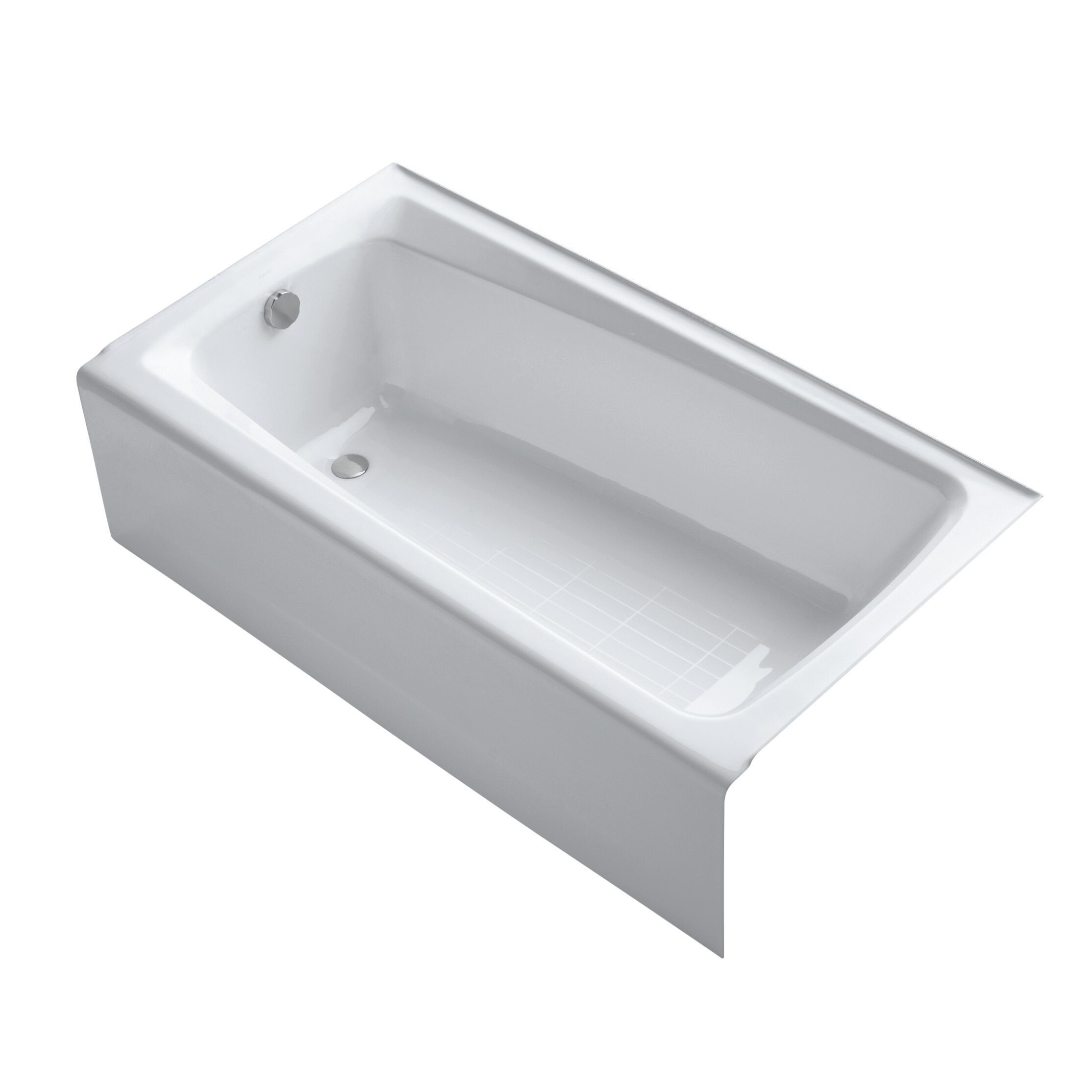 kohler mendota 60 x 32 soaking bathtub reviews wayfair